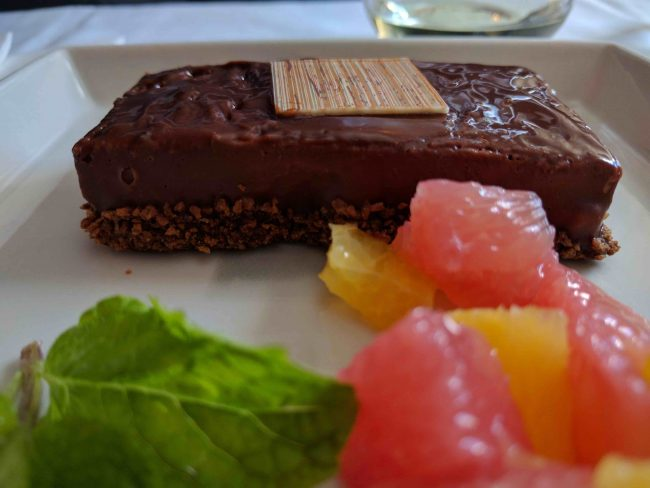Dessert on the Singapore Airlines A350 Business Class