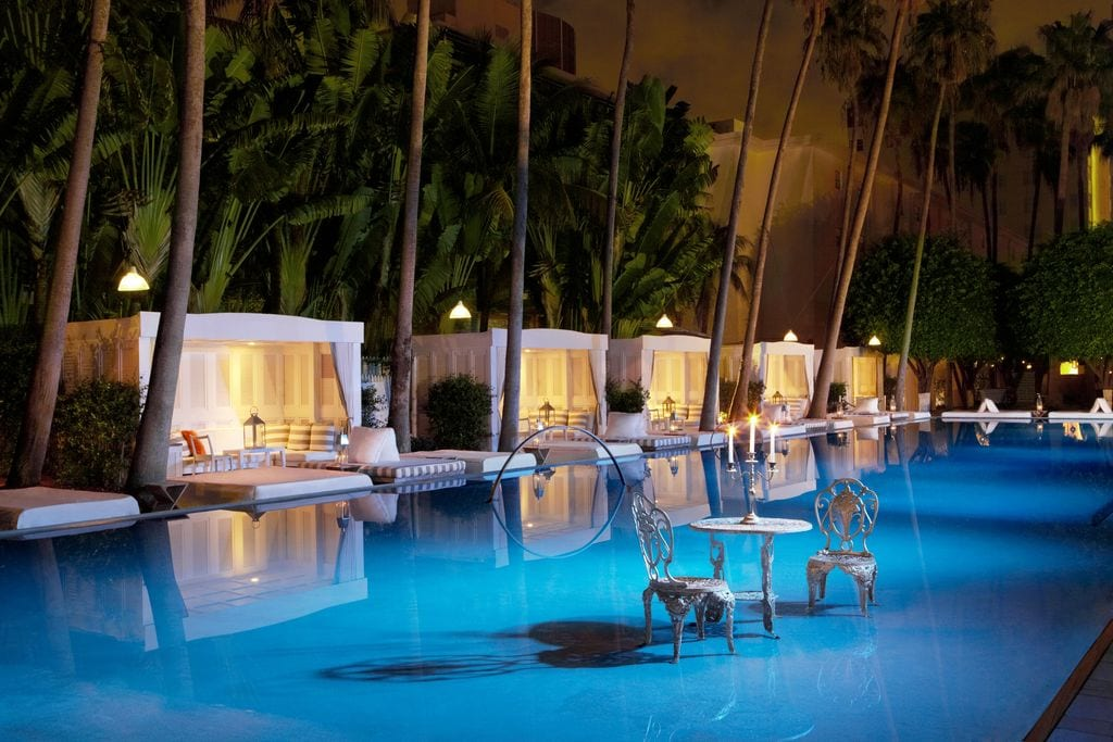 Dining on water at the Delano