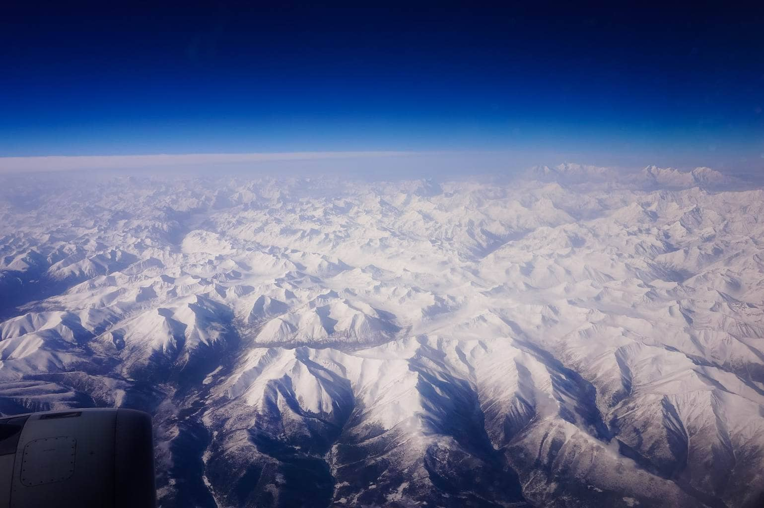 Flying in to Lhasa
