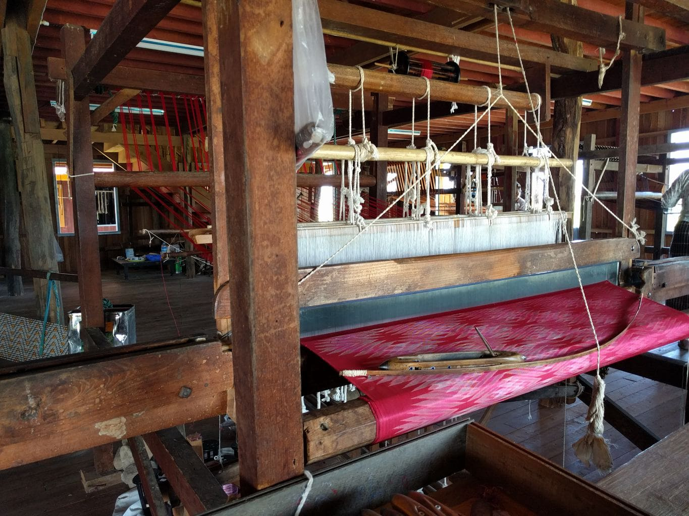 Inle Lake silk workshop