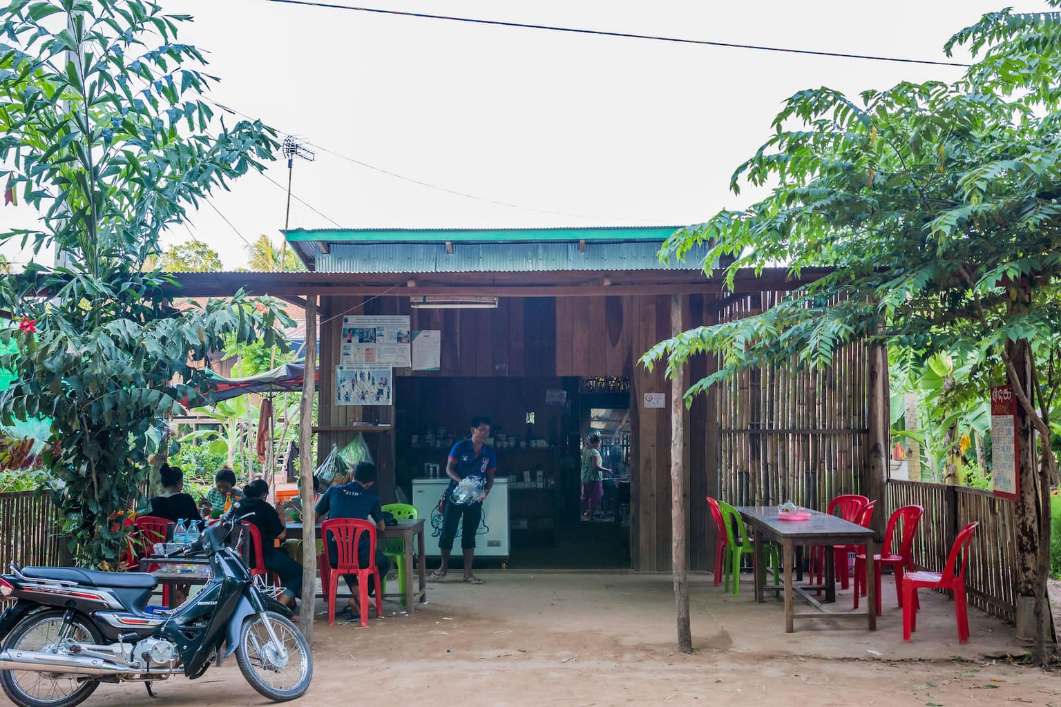 Small market in the wild east of Cambodia