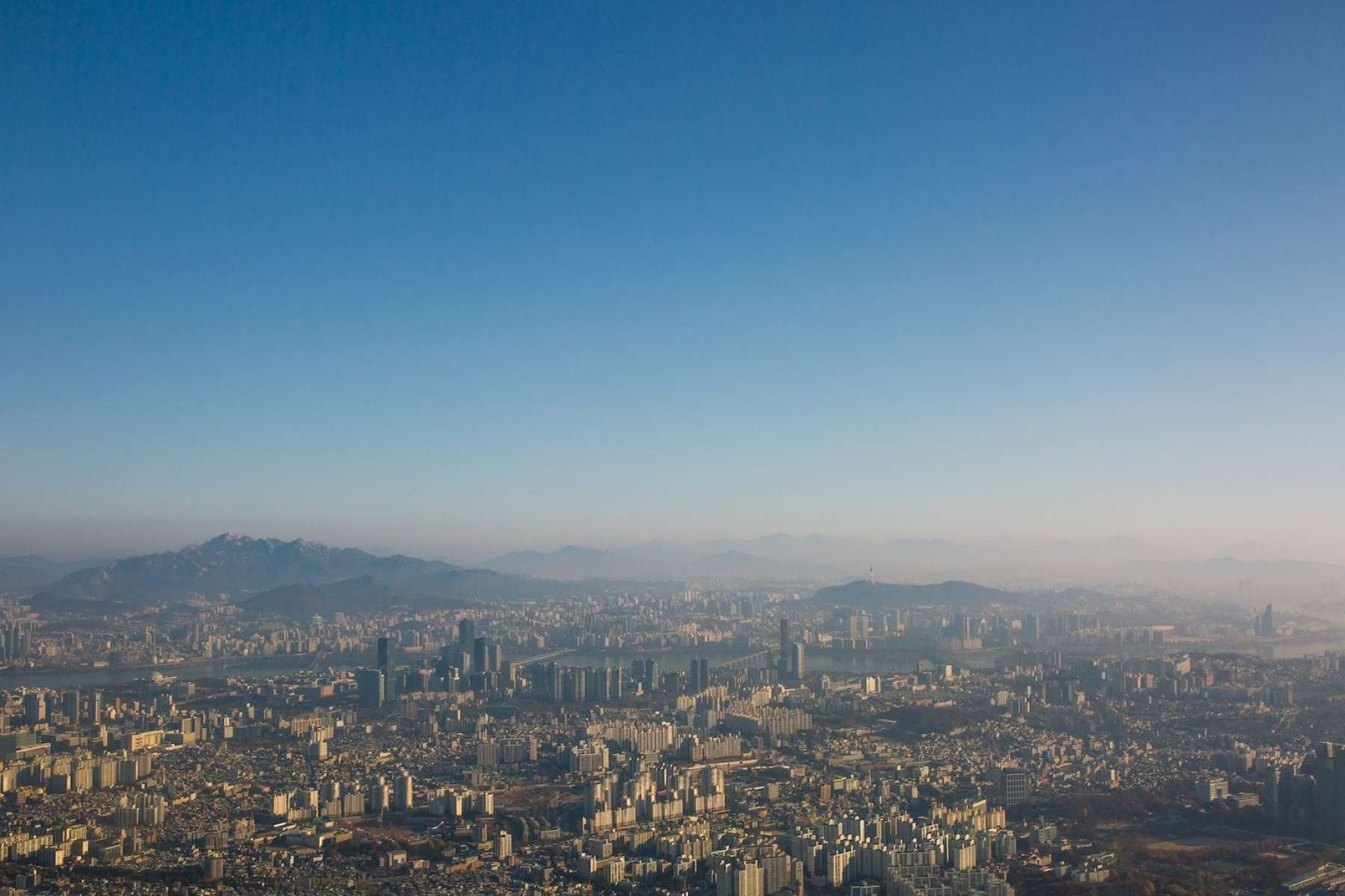 Aerial view of Seoul