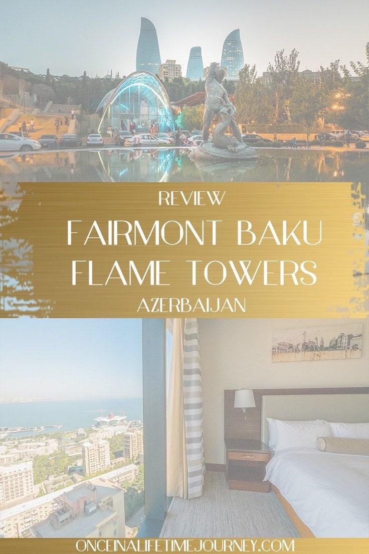 fairmont baku flame towers Pinterest
