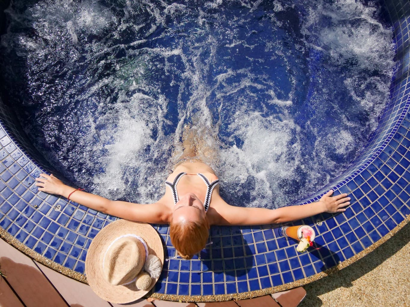 Chilling in the jacuzzi