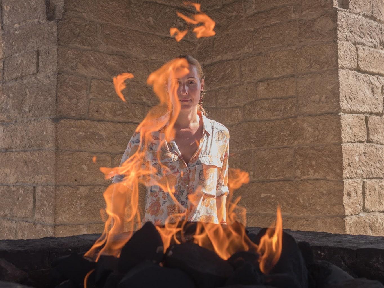 Flames in Azerbaijan