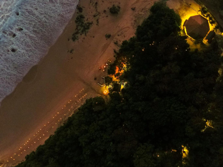 Nihi Sumba Hotel review, Aerial night scene
