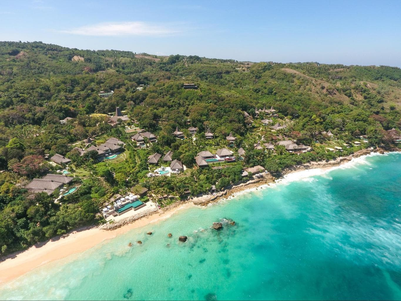 Nihi Sumba Hotel review, Aerial shot of the island