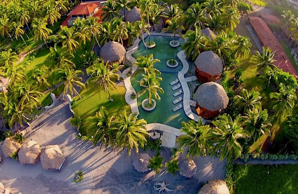 Drone shot of Tortuga Village