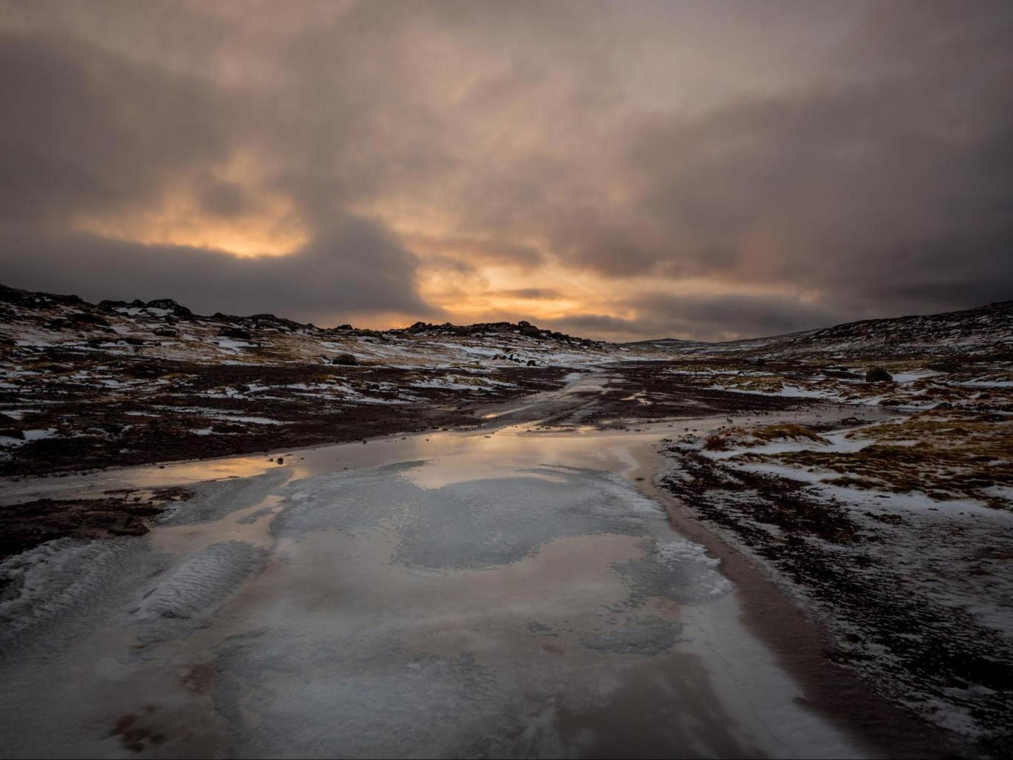 Stunning winter landscapes in the Faroe Islands