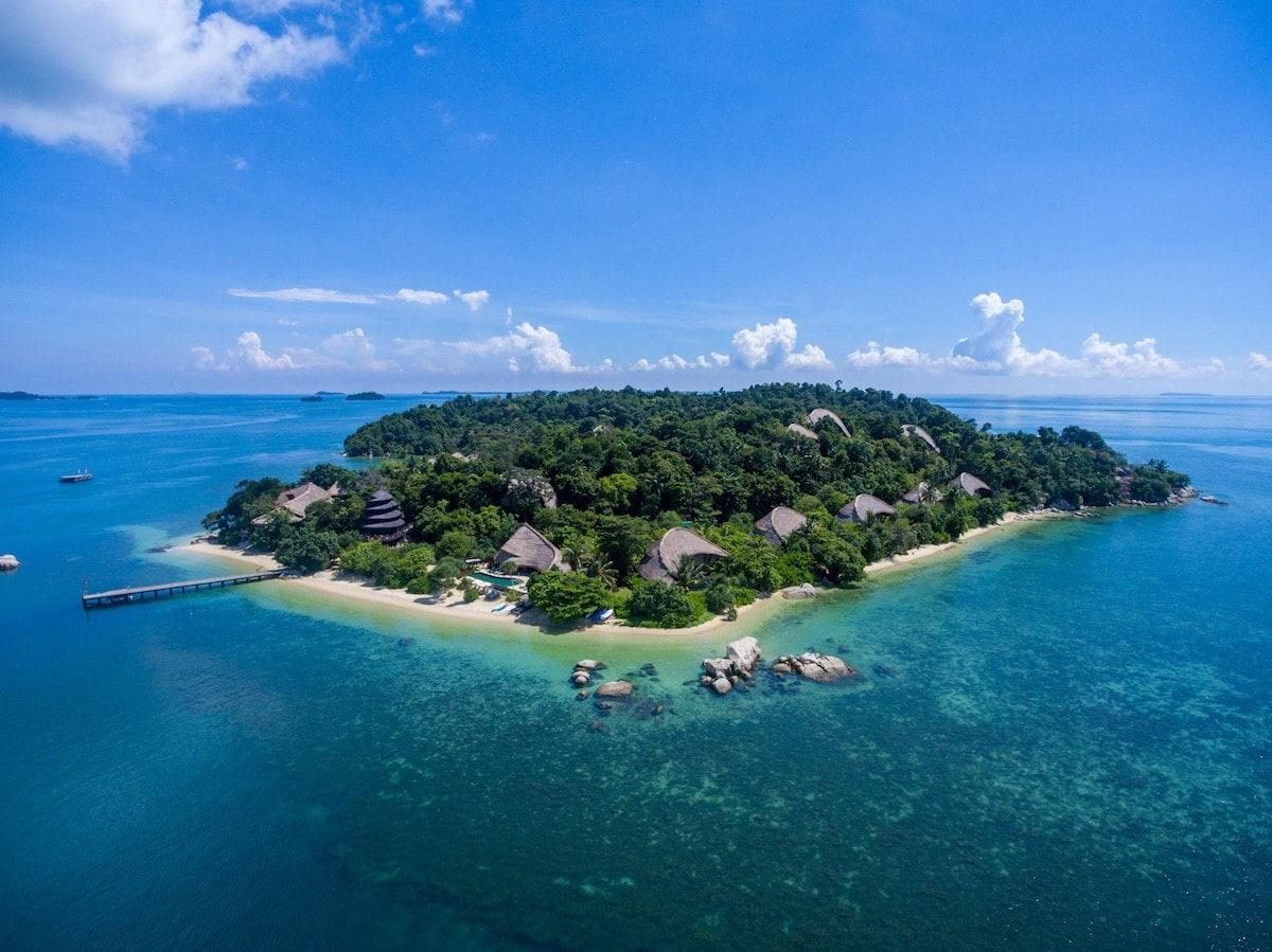Cempedak Private Island Drone shot