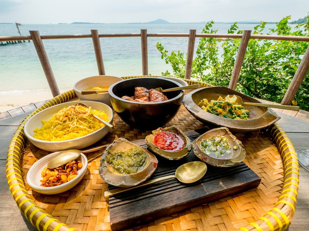 Three course meal at the Cempedak restaurant