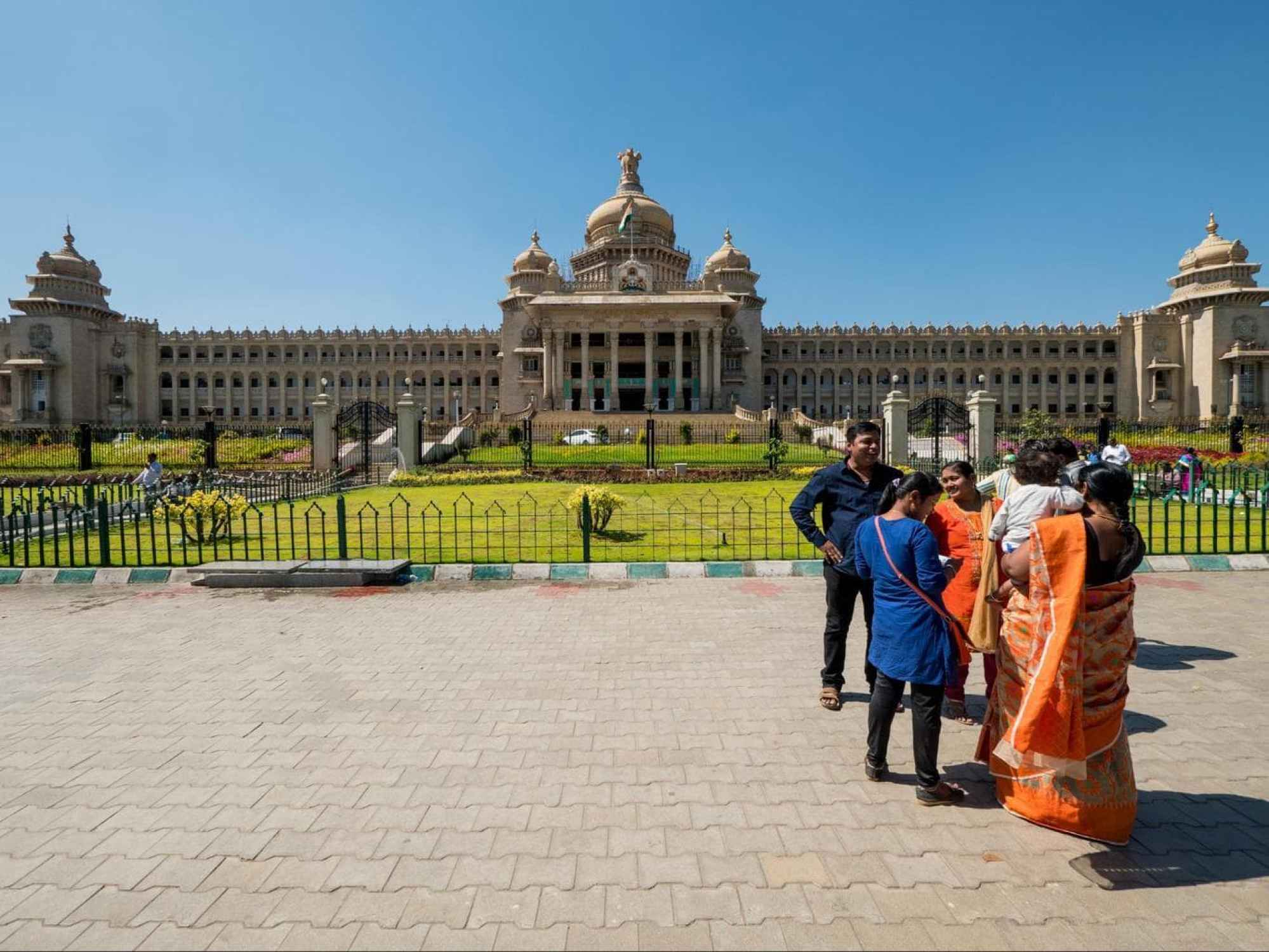 Entrance to Vidhana Soudha in Bangalore