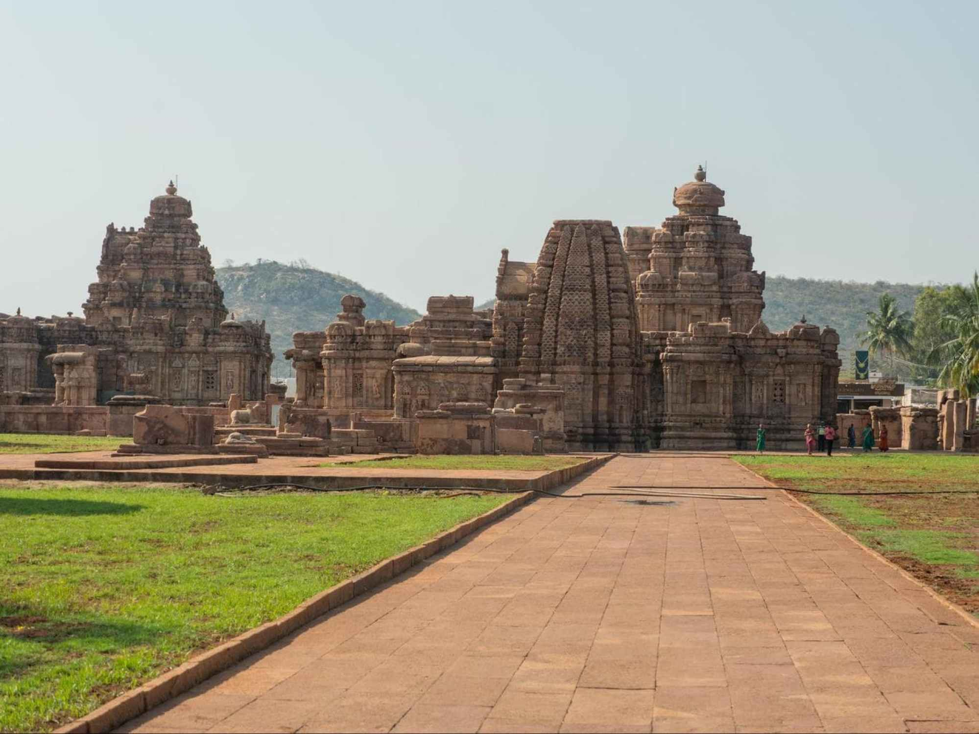 Pattadakal Temples from afar