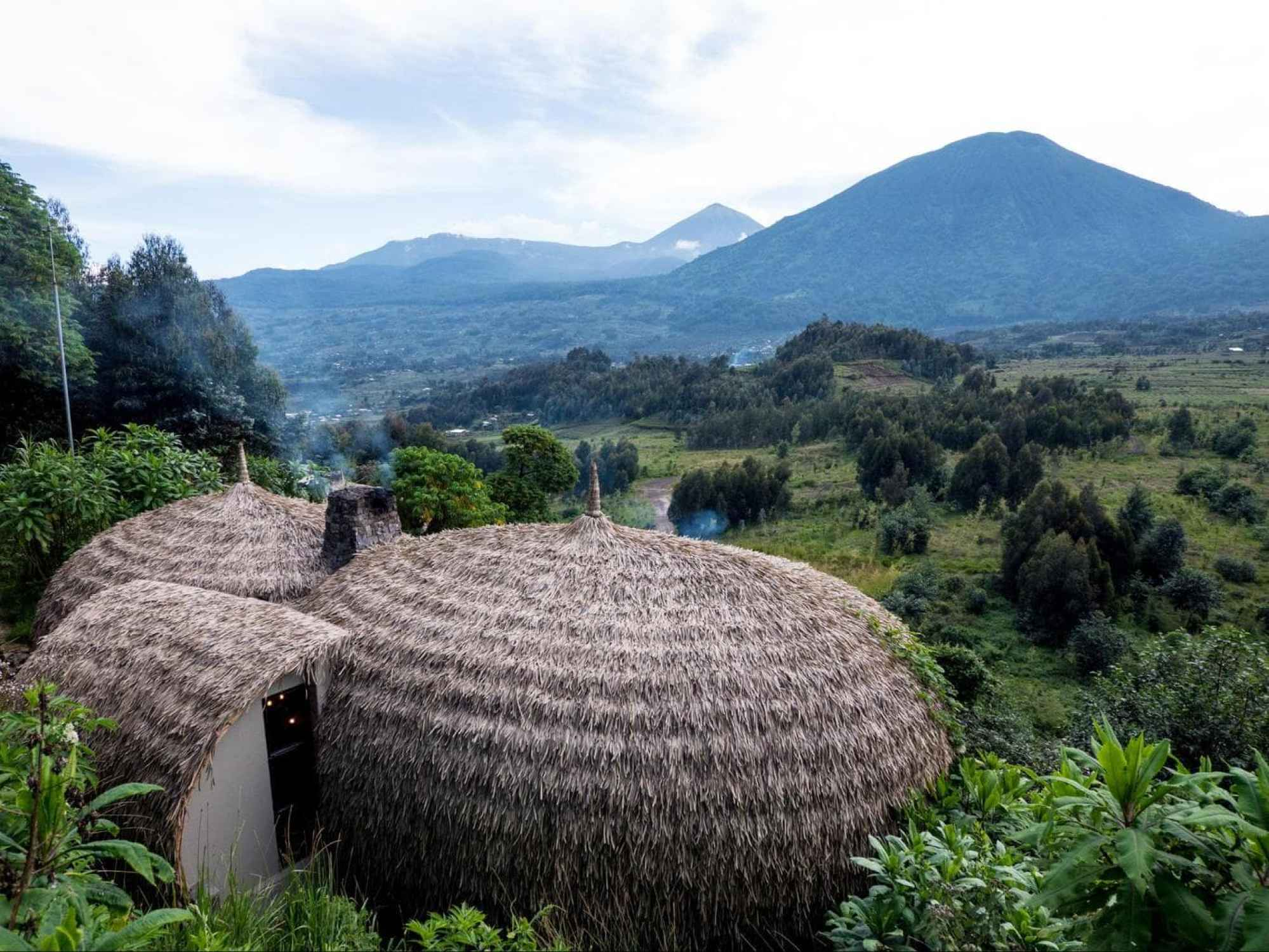 Bisate Lodge above the mountain