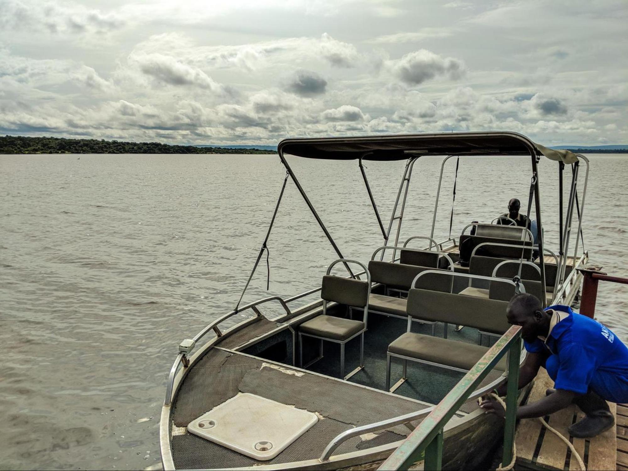 Boat cruise at Akagera National Park