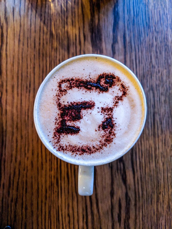 Gorilla sprinkled latte at Bisate lodge
