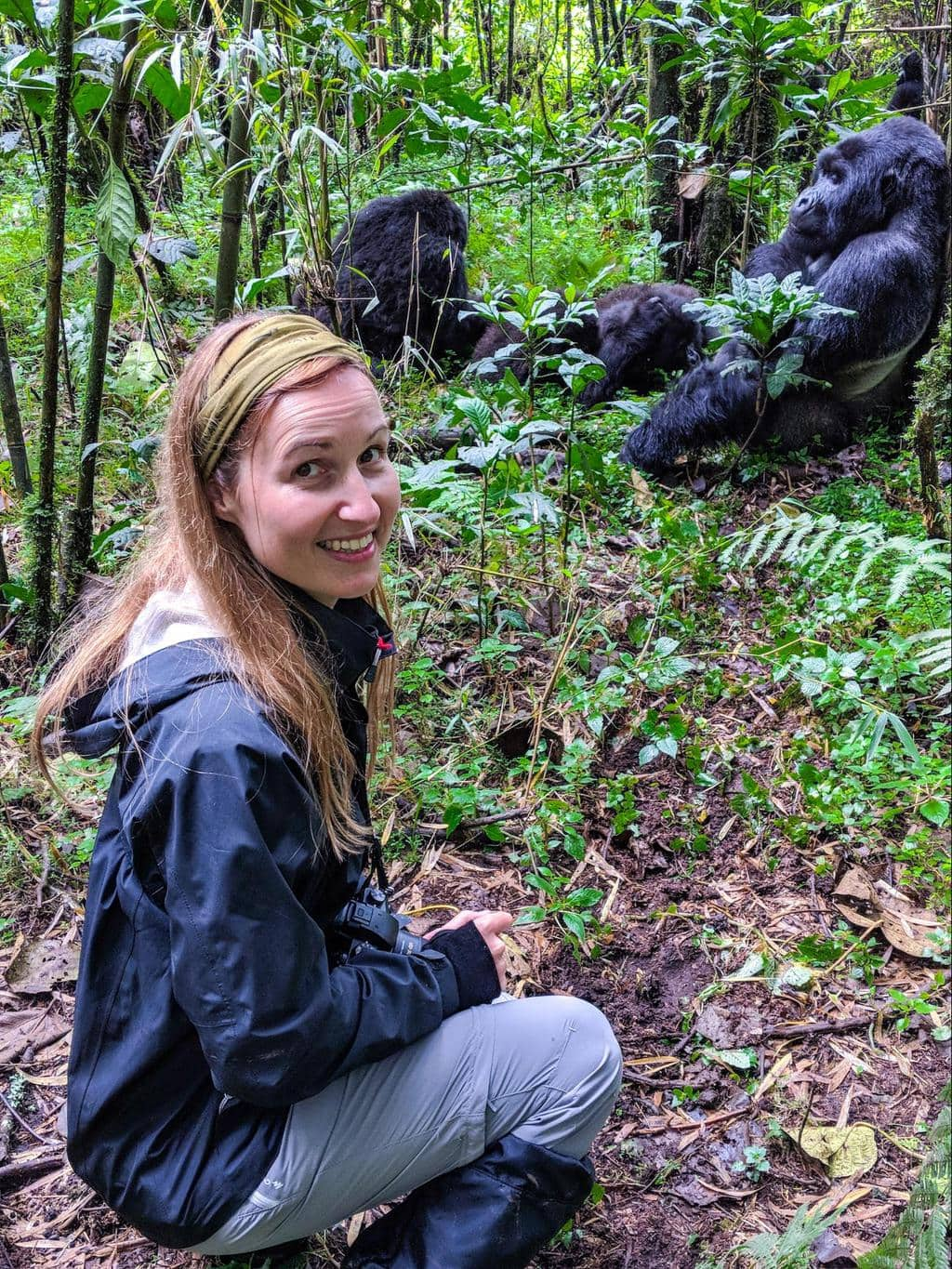 Me with the Gorillas in Rwanda