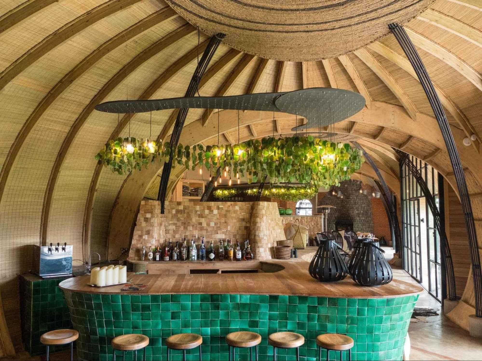 The bar at Bisate Lodge