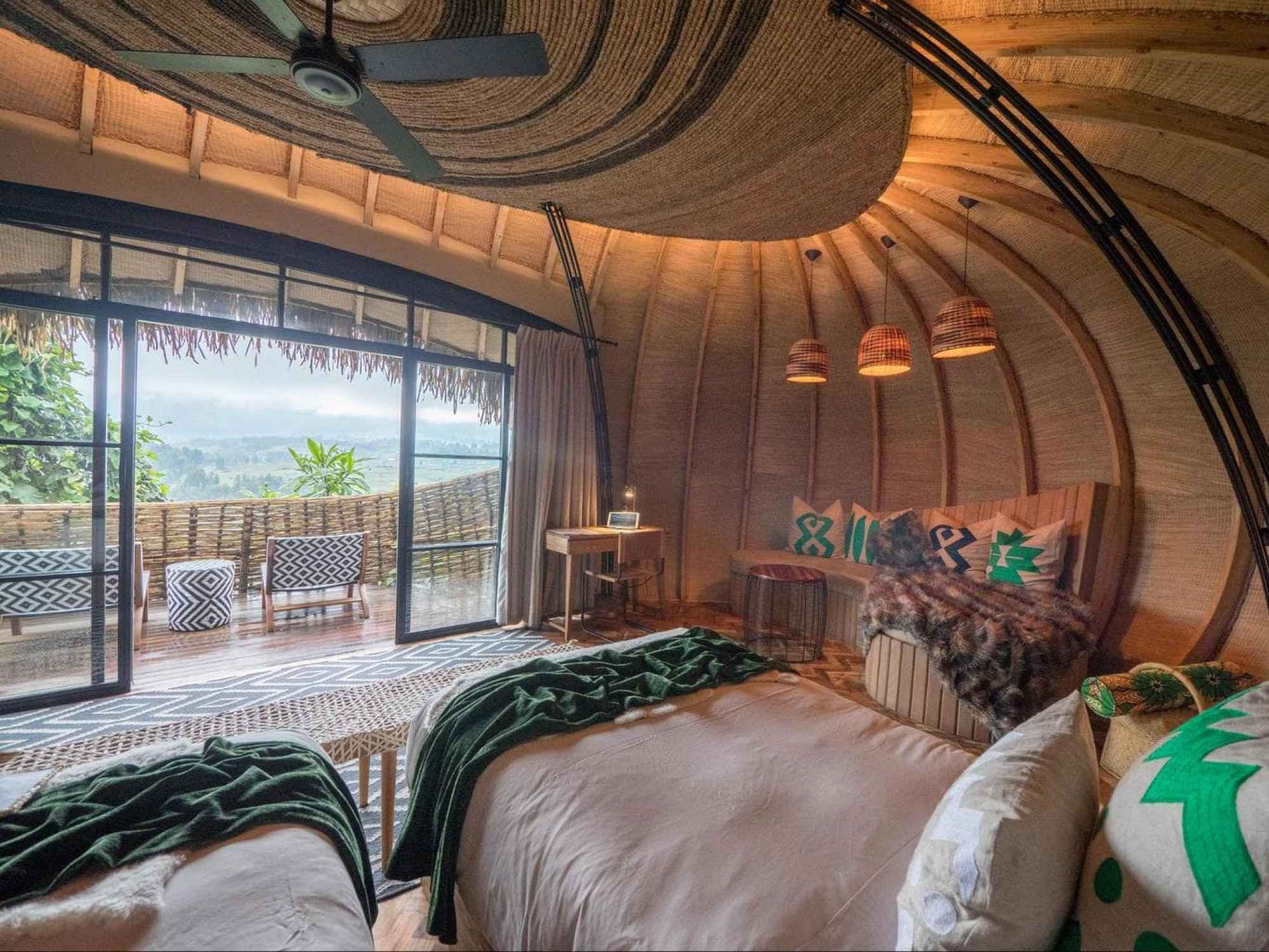 The bedroom at Bosate Lodge