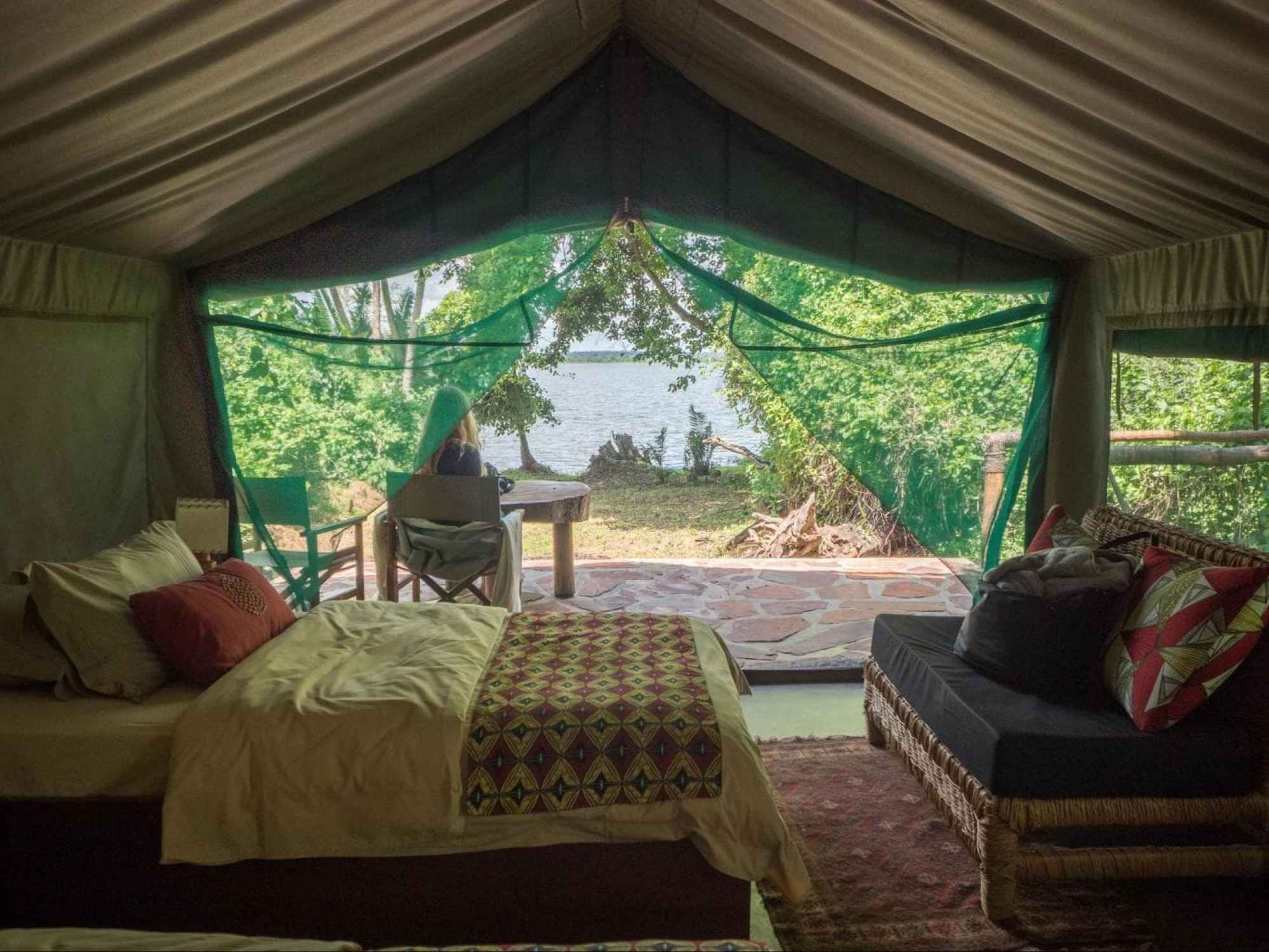 The tents at Ruzizi Tented Lodge