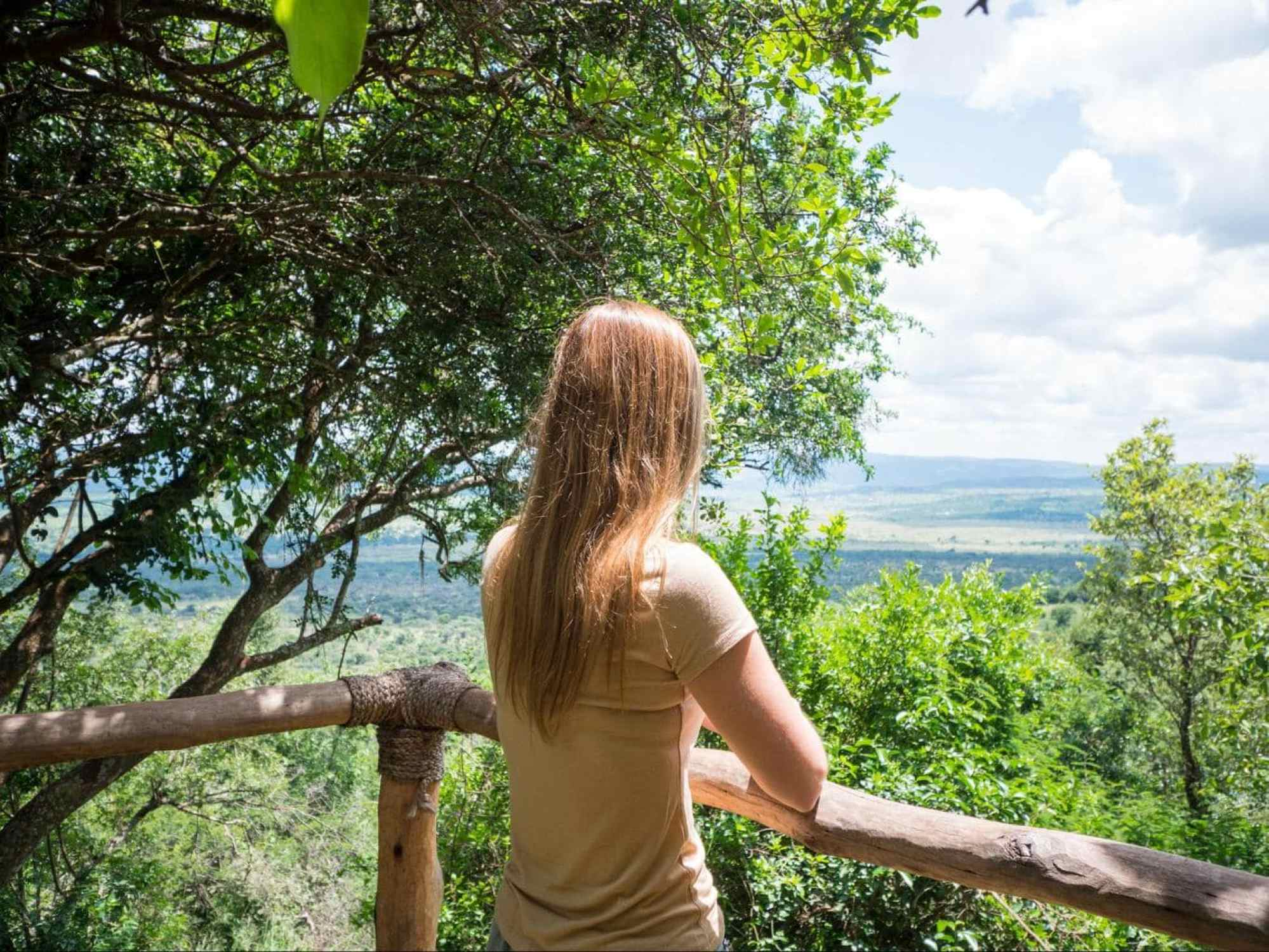The view over Akagera National Park from the park's headquarters
