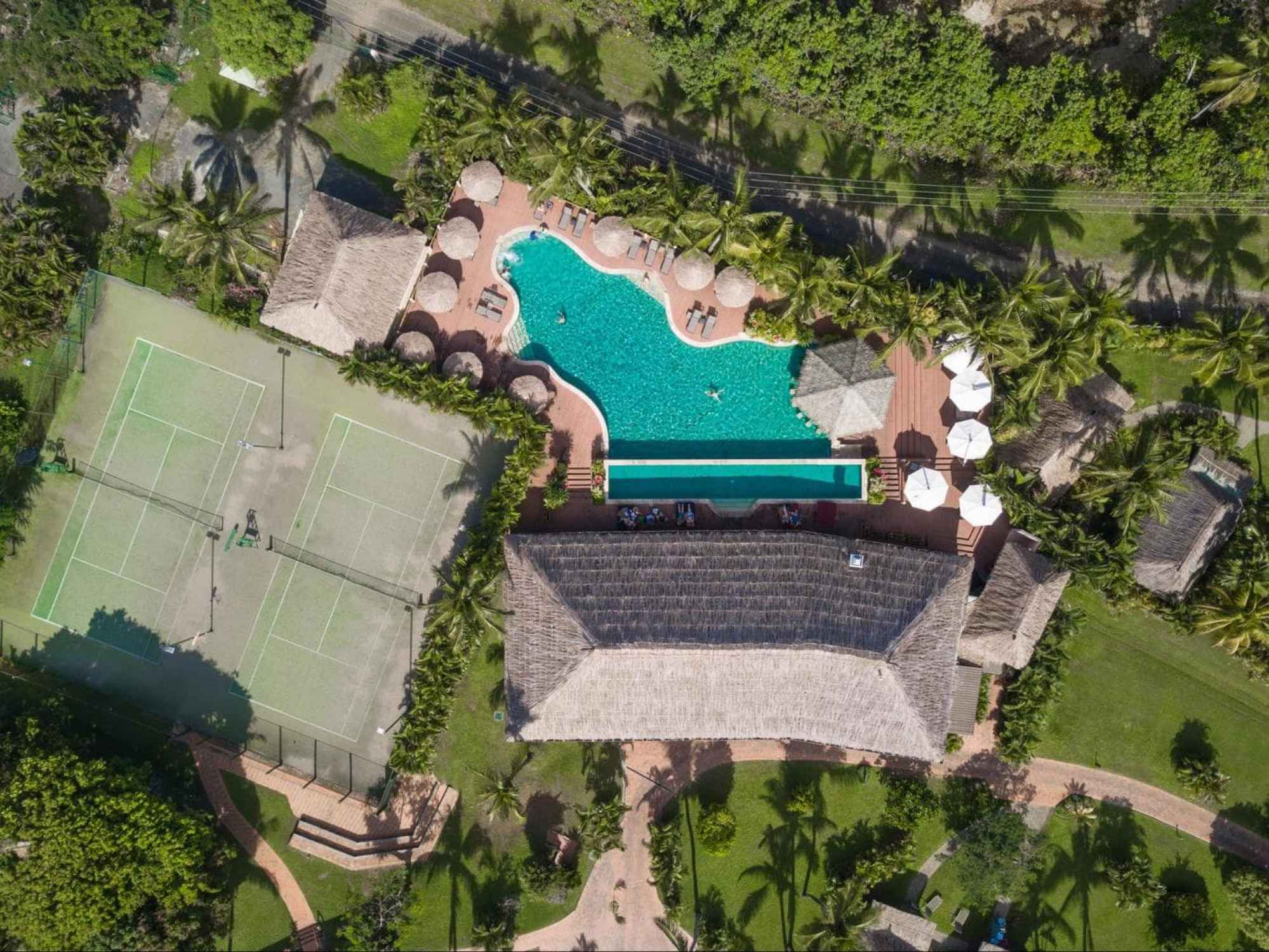Adults only pool at tennis courts at Outrigger Fiji Beach Resort
