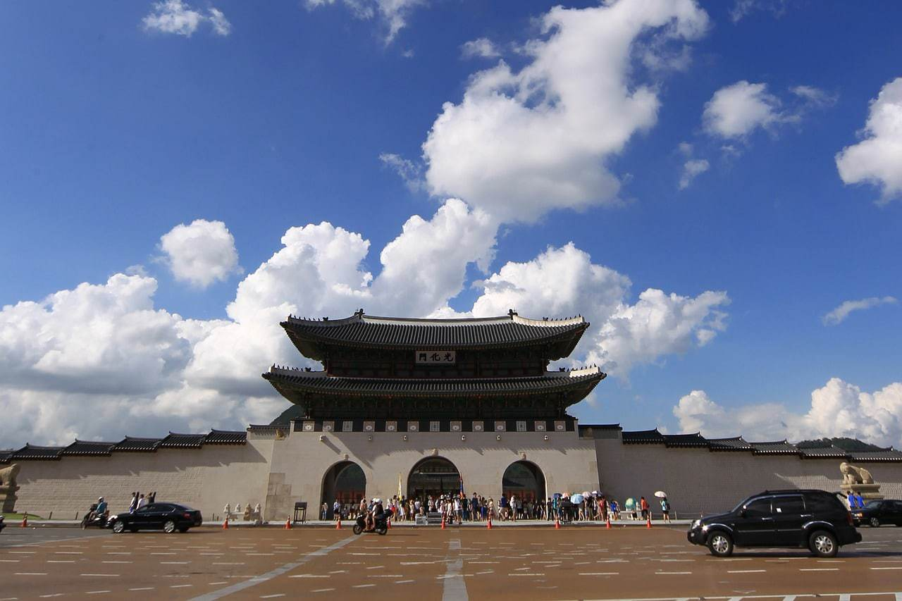 Gwanghwamun, the main entrance to Gyeongbuk palace