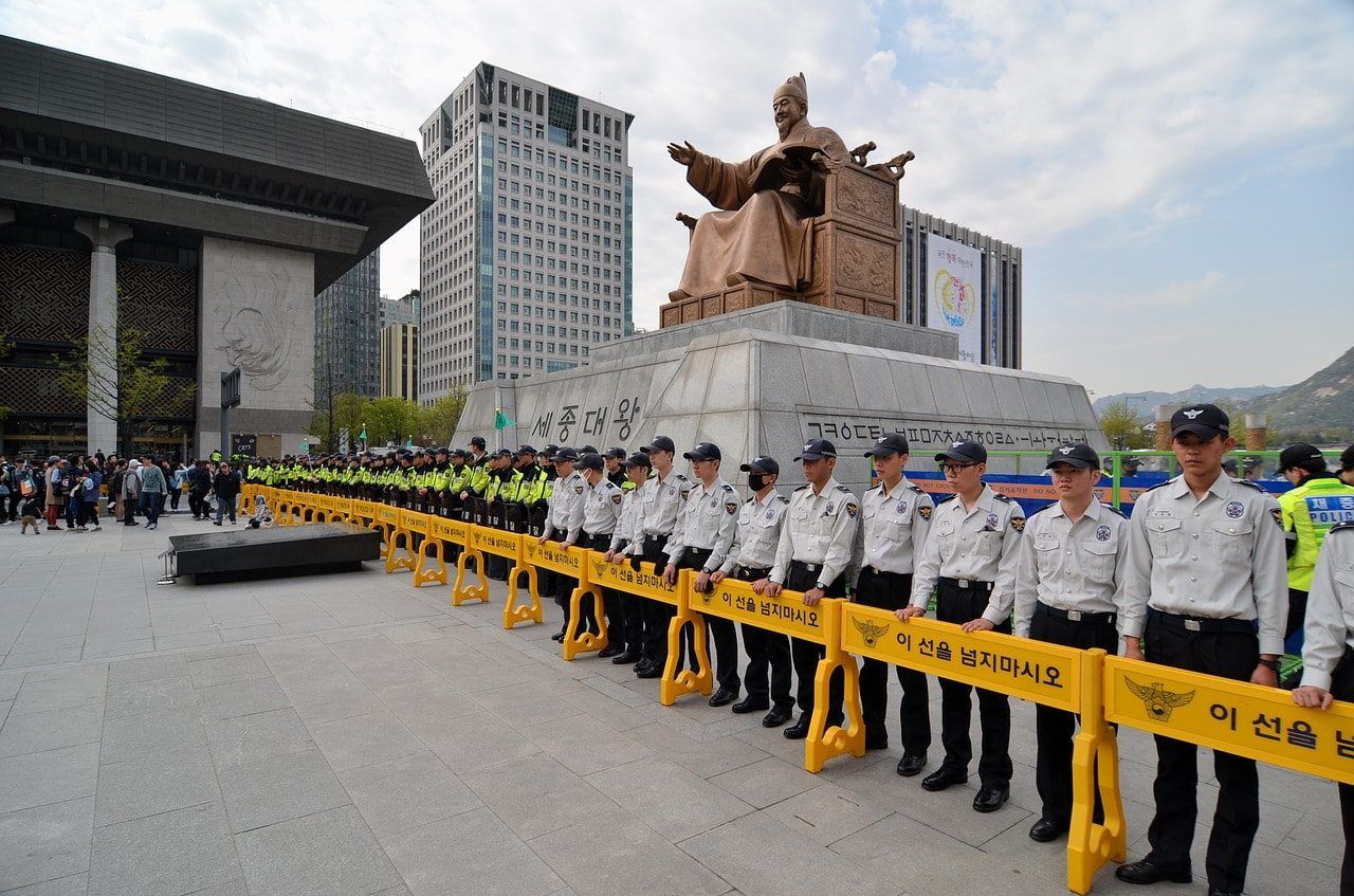 Protest action at Gwanghwamun