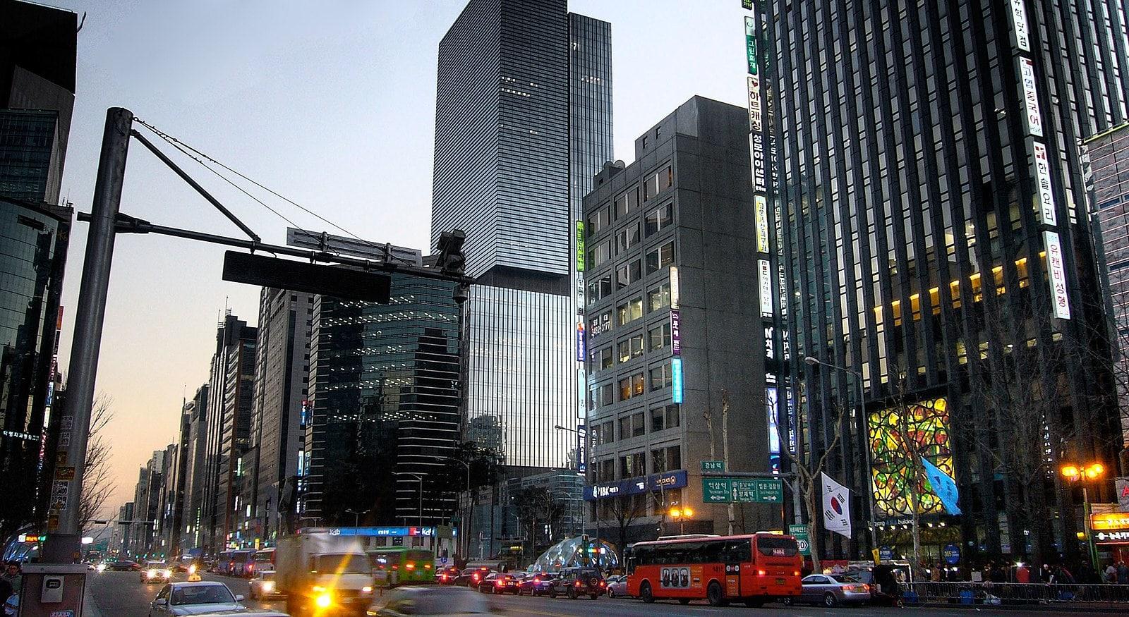 Skyscrapers in Gangnam