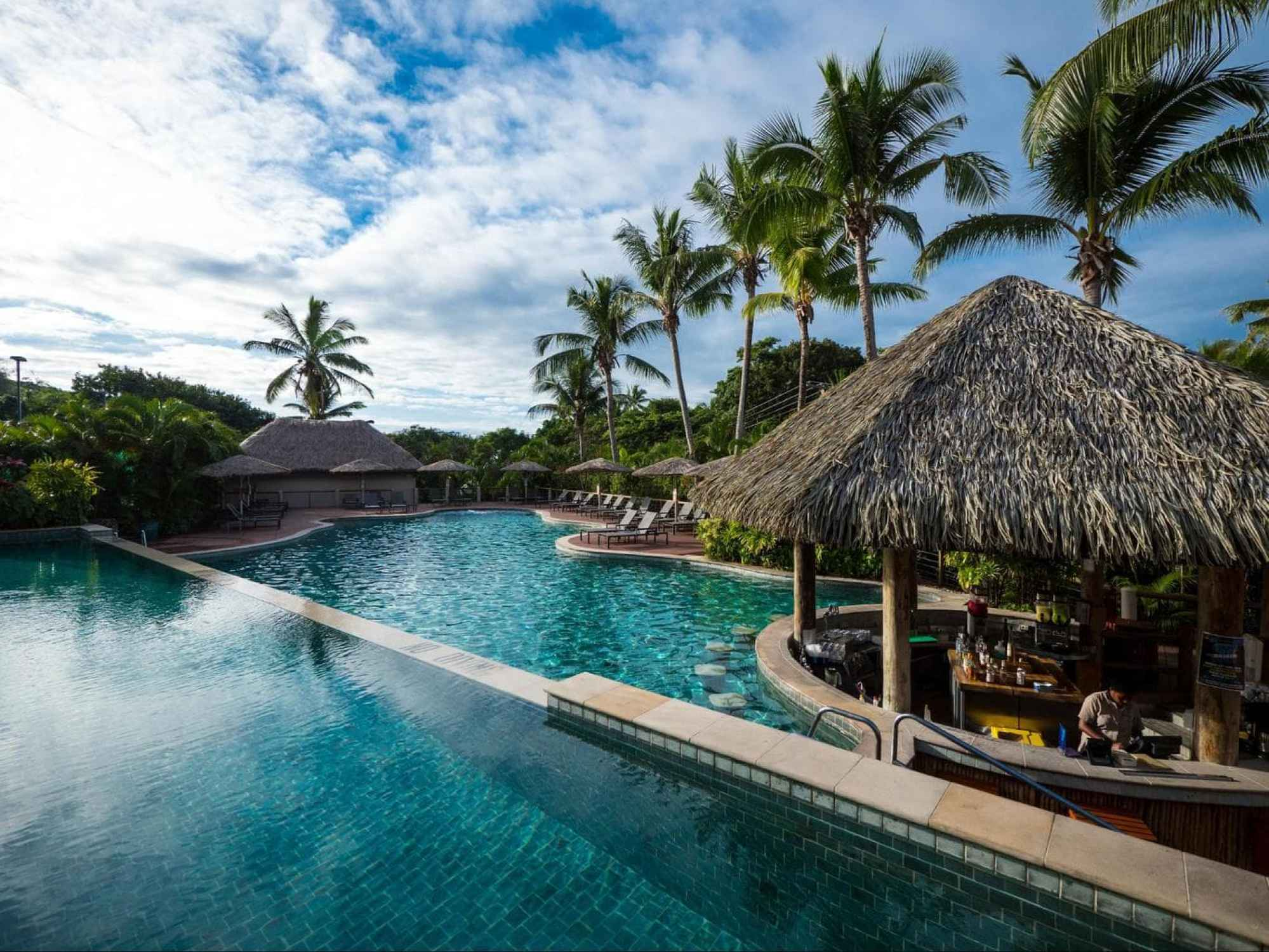 The adults only pool at Outrigger Fiji Beach Resort