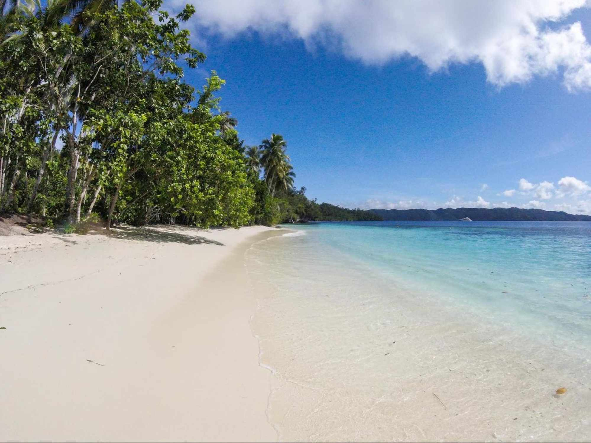 Gam Island in Raja Ampat, one of the most remote beaches in Indonesia