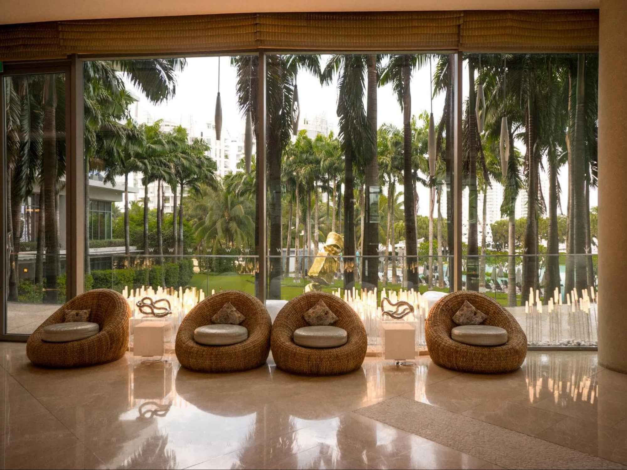 Lobby area at the W Singapore - Sentosa Cove