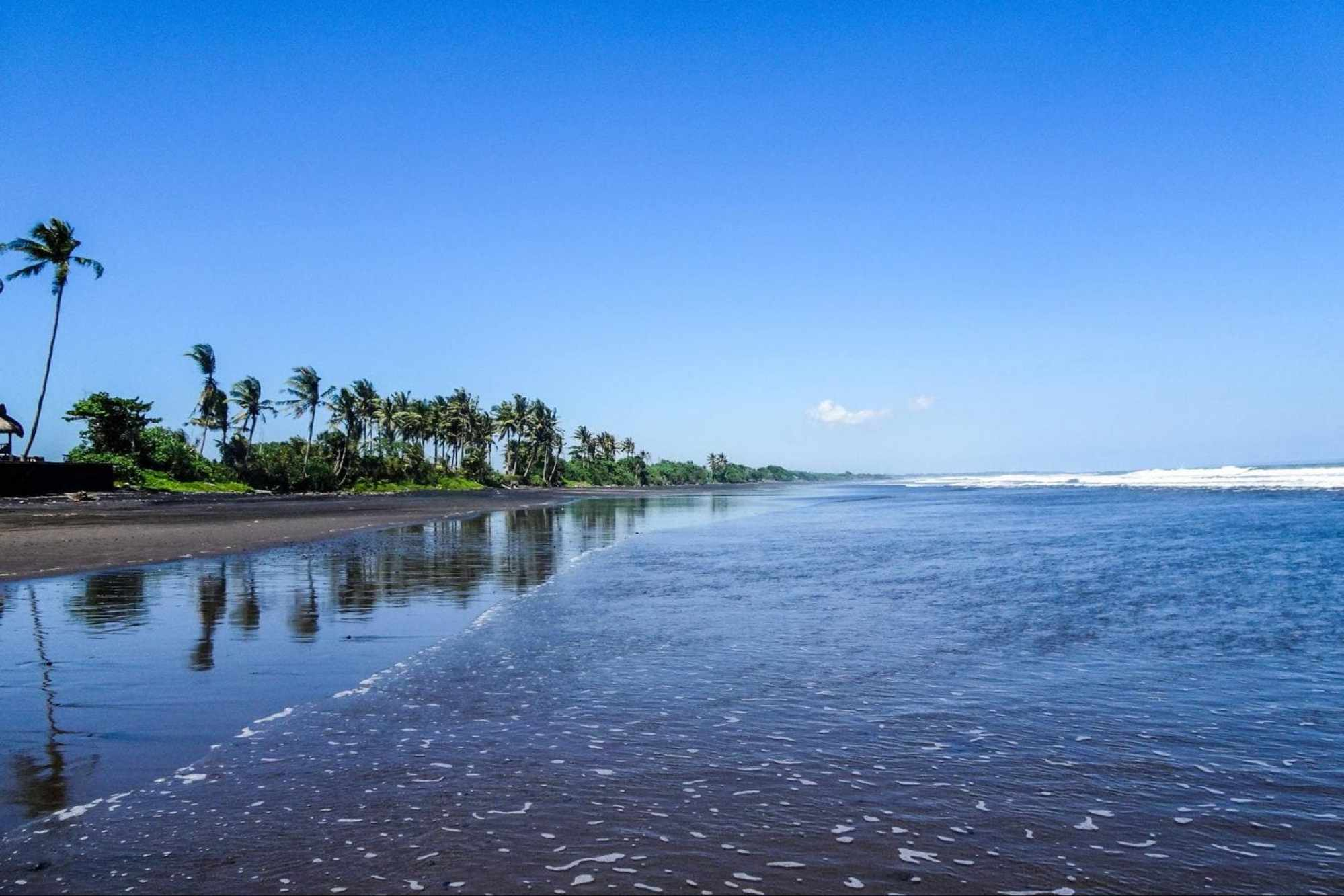 Pasut Beach, a black sand beach in Bali