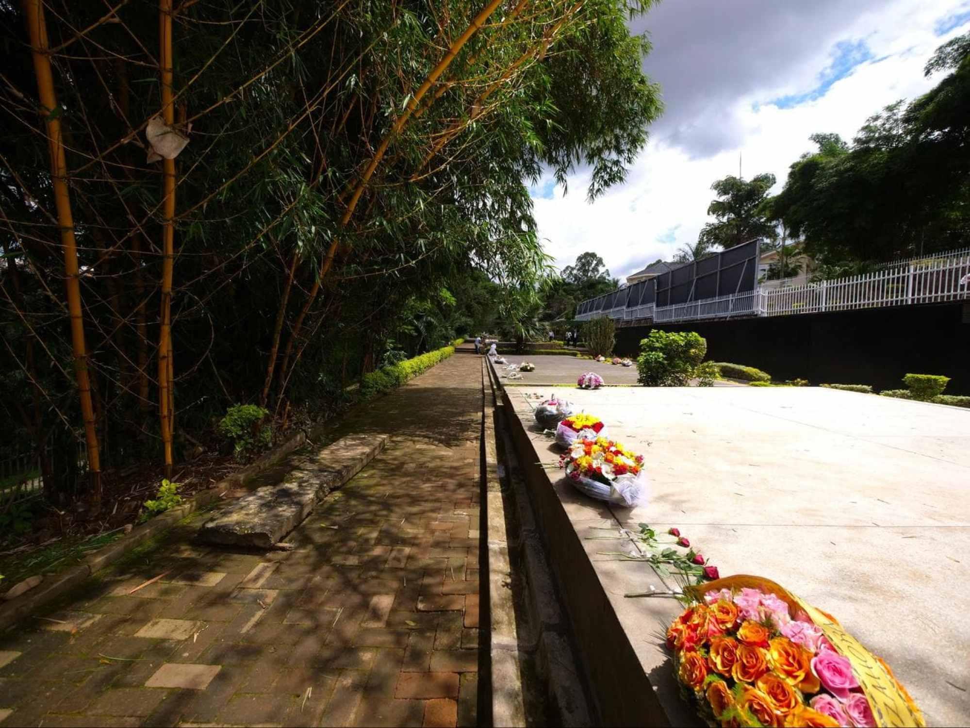 Kigali Genocide Memorial flowers