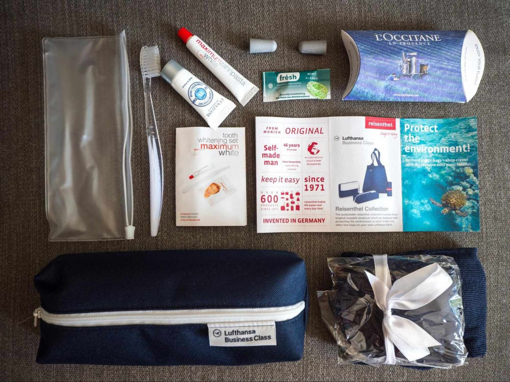 Lufthansa Business Class amenity kit