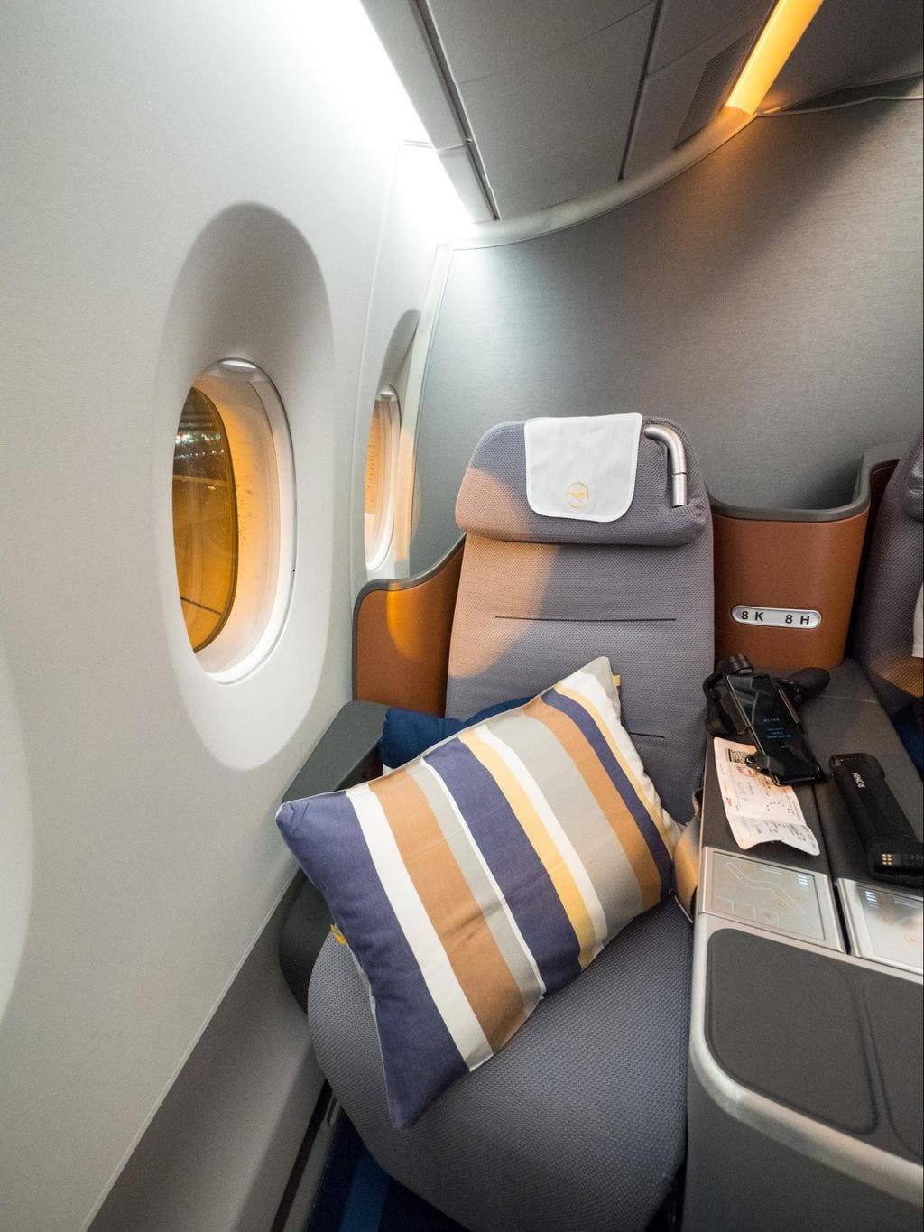 Review Of New Lufthansa Business Class Airbus A350 Once