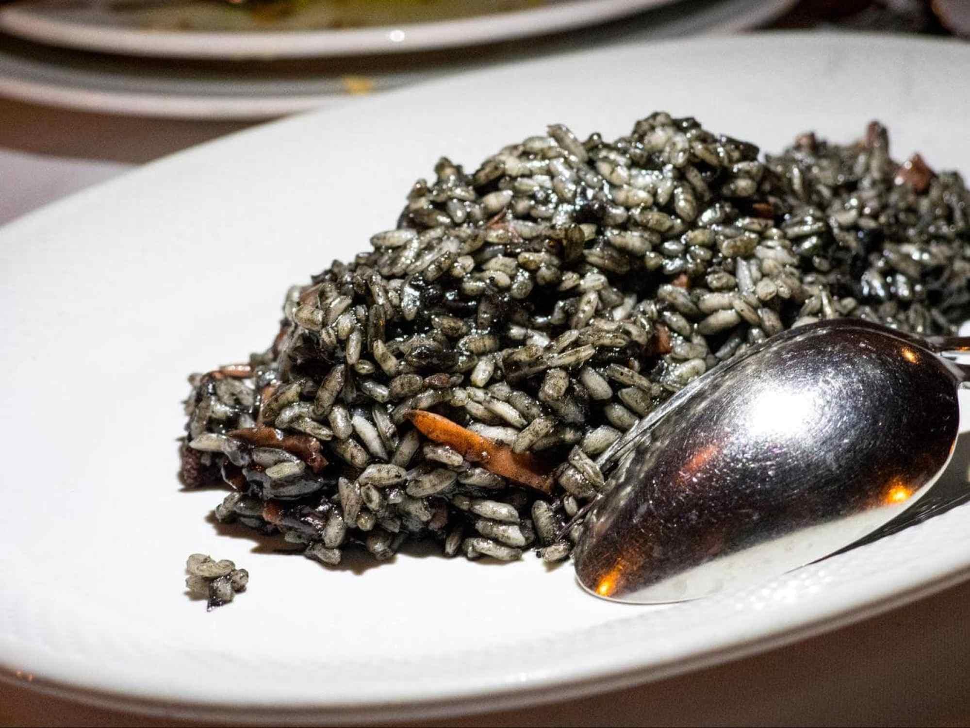 Black Montenegrin risotto