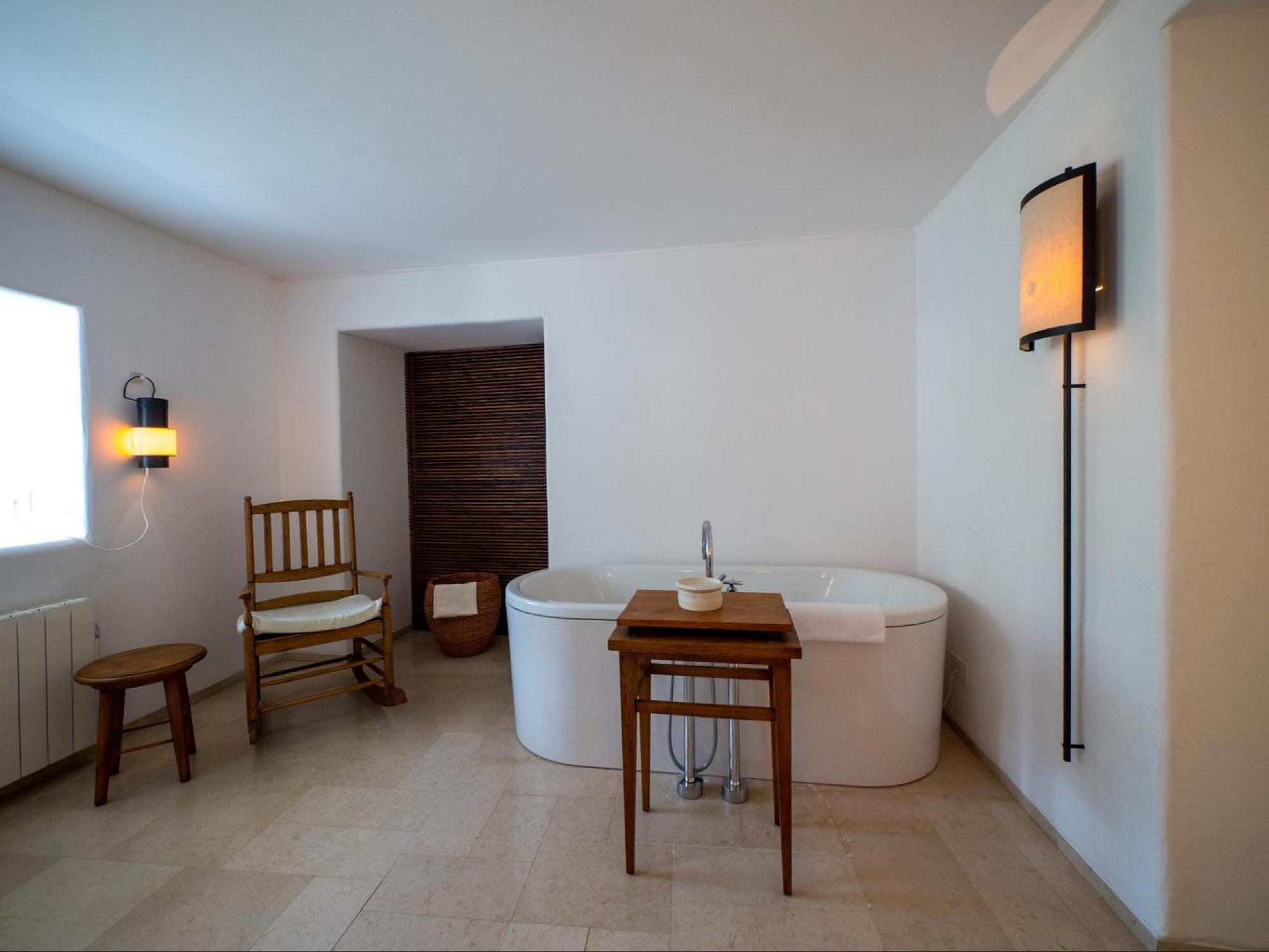 Free standing bathtub at Aman Sveti Stefan