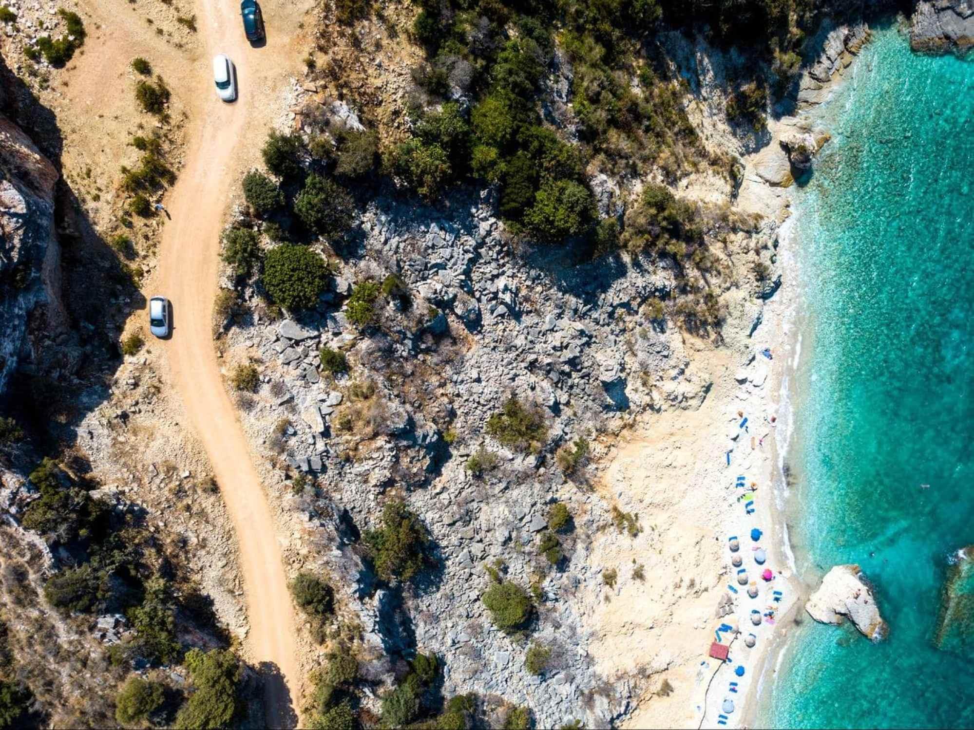 Mirror Beach in Albania