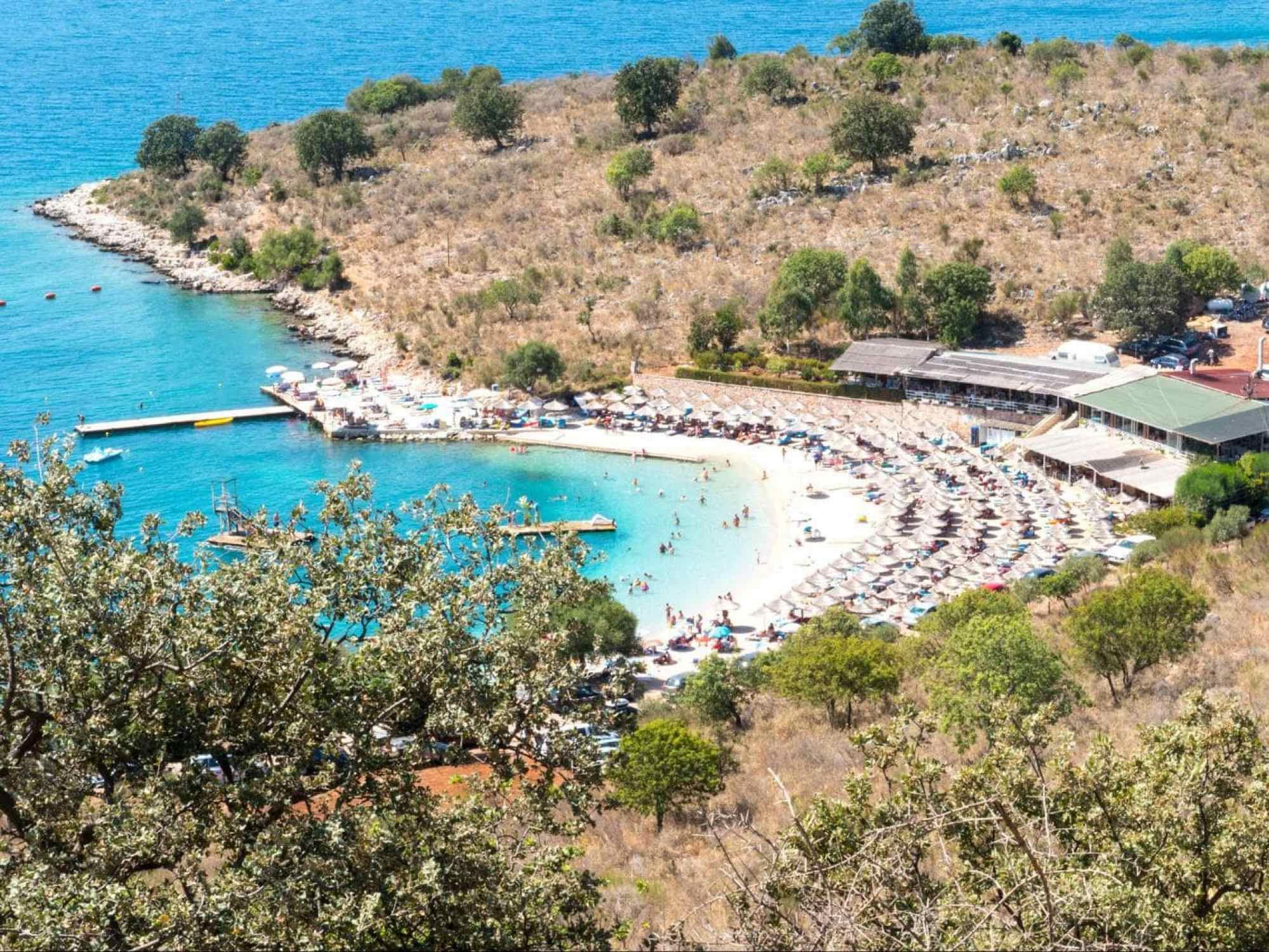 Poda Beach in Albania