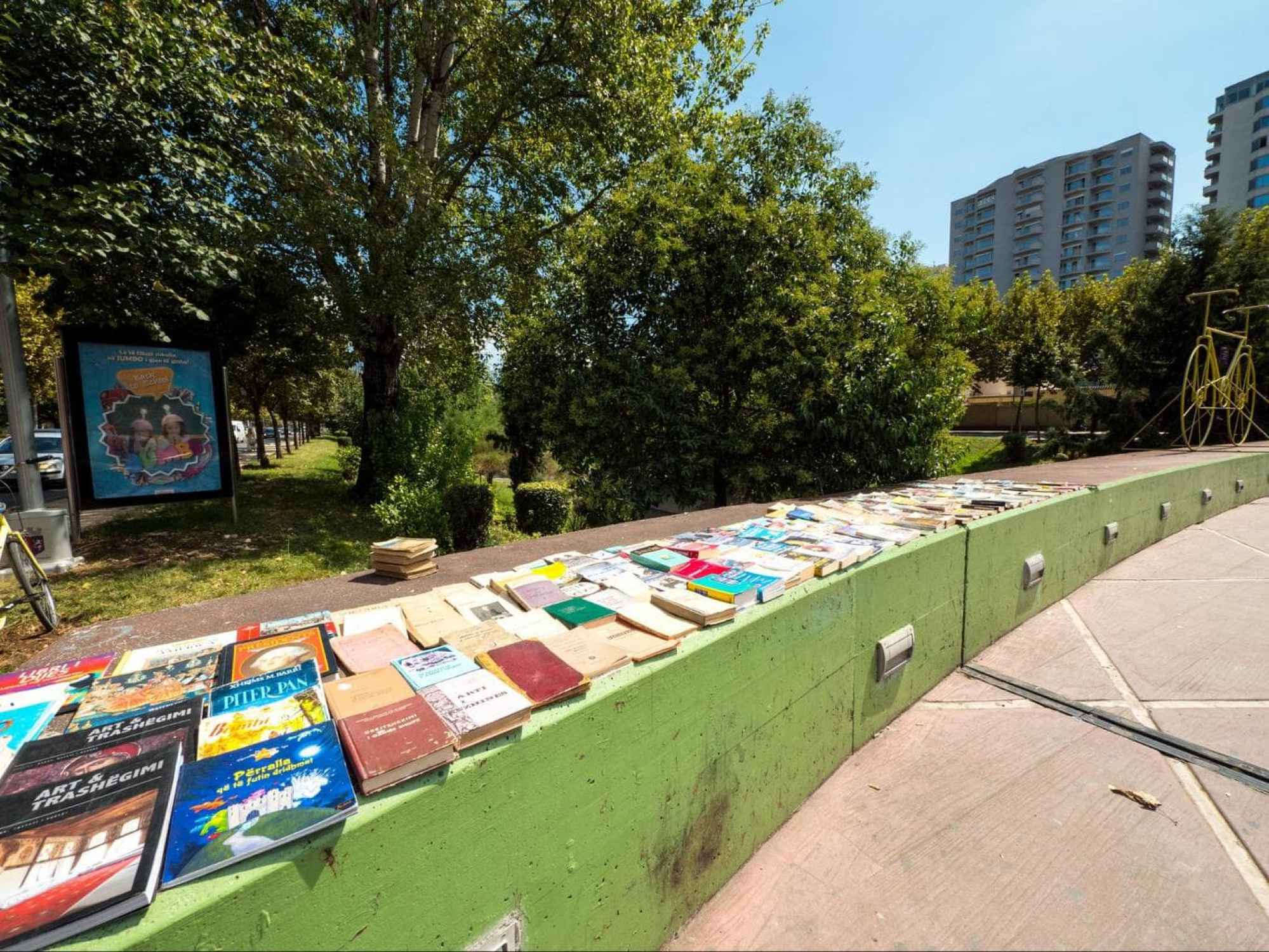 Second hand books for sale in the streets of Tirana