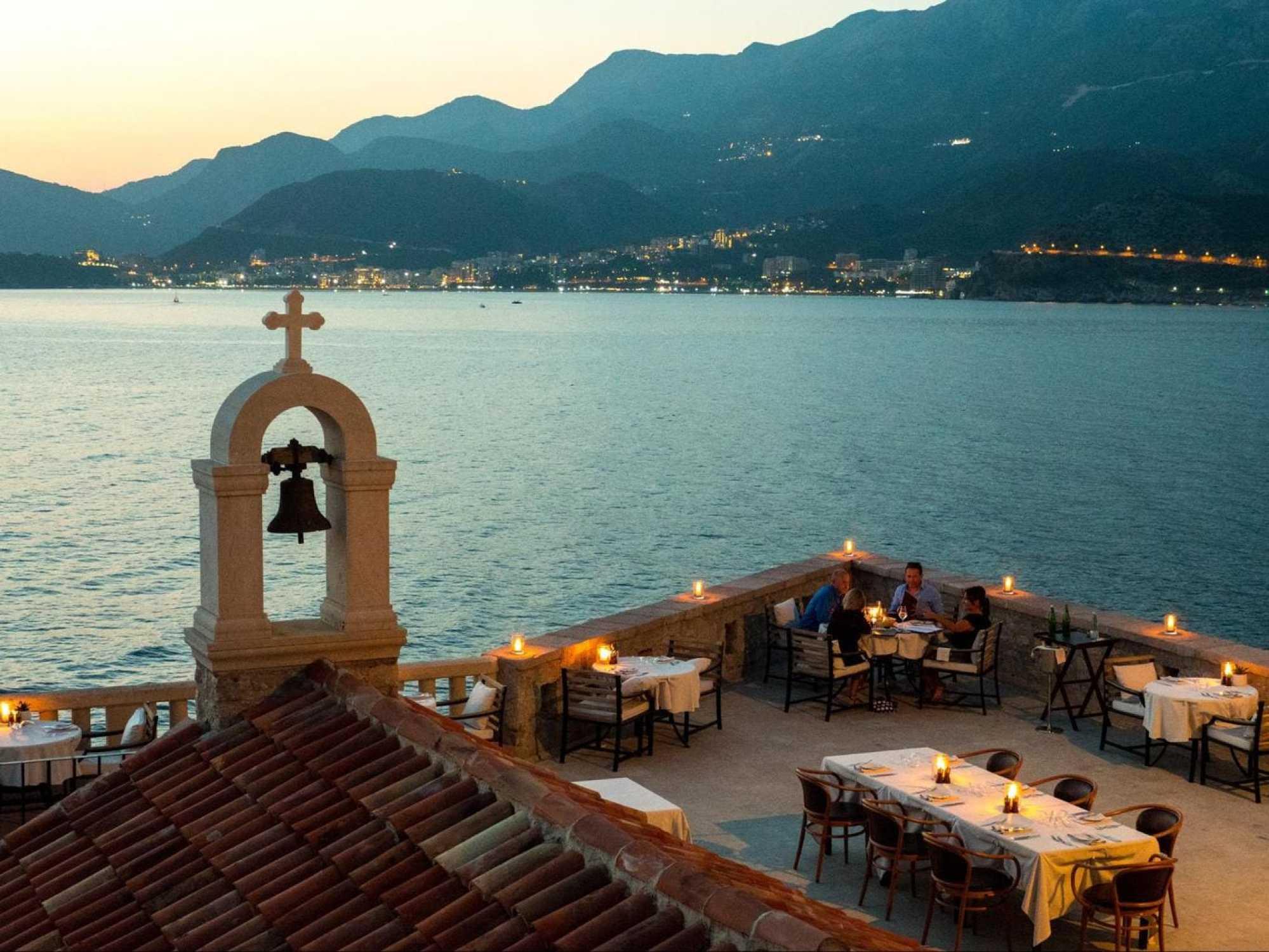 Signature restaurant at sunset
