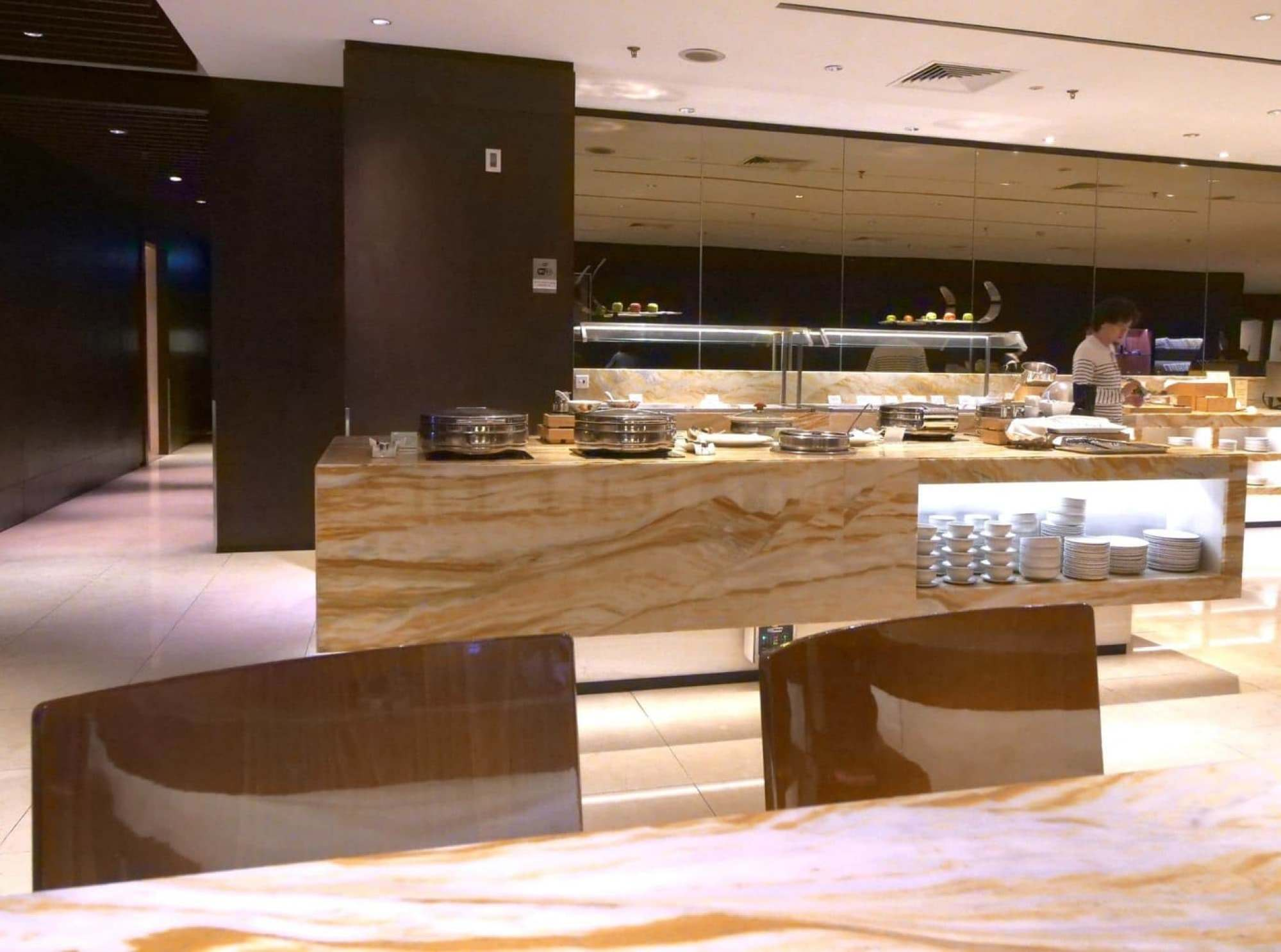 Singapore Airlines Business Class lounge at terminal 2