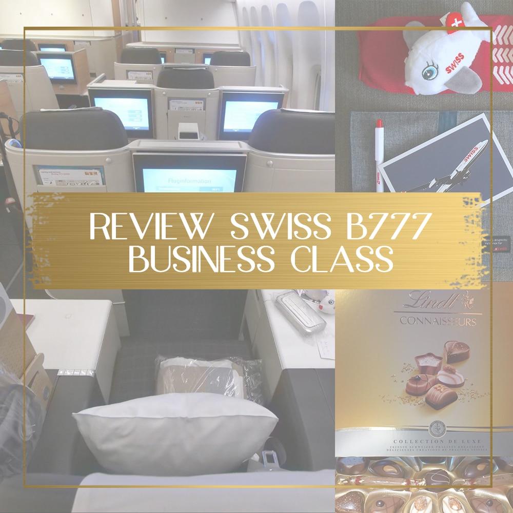 Swiss Business Class B777 review feature