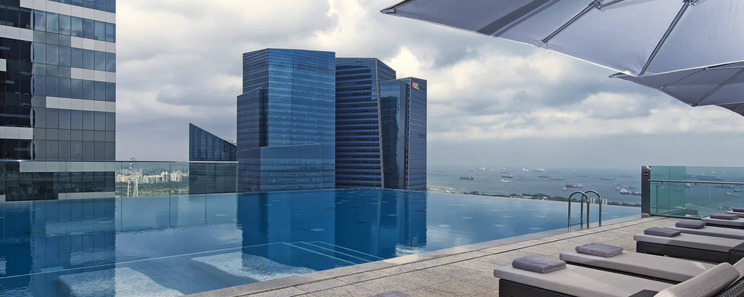 The Westin Singapore rooftop pool