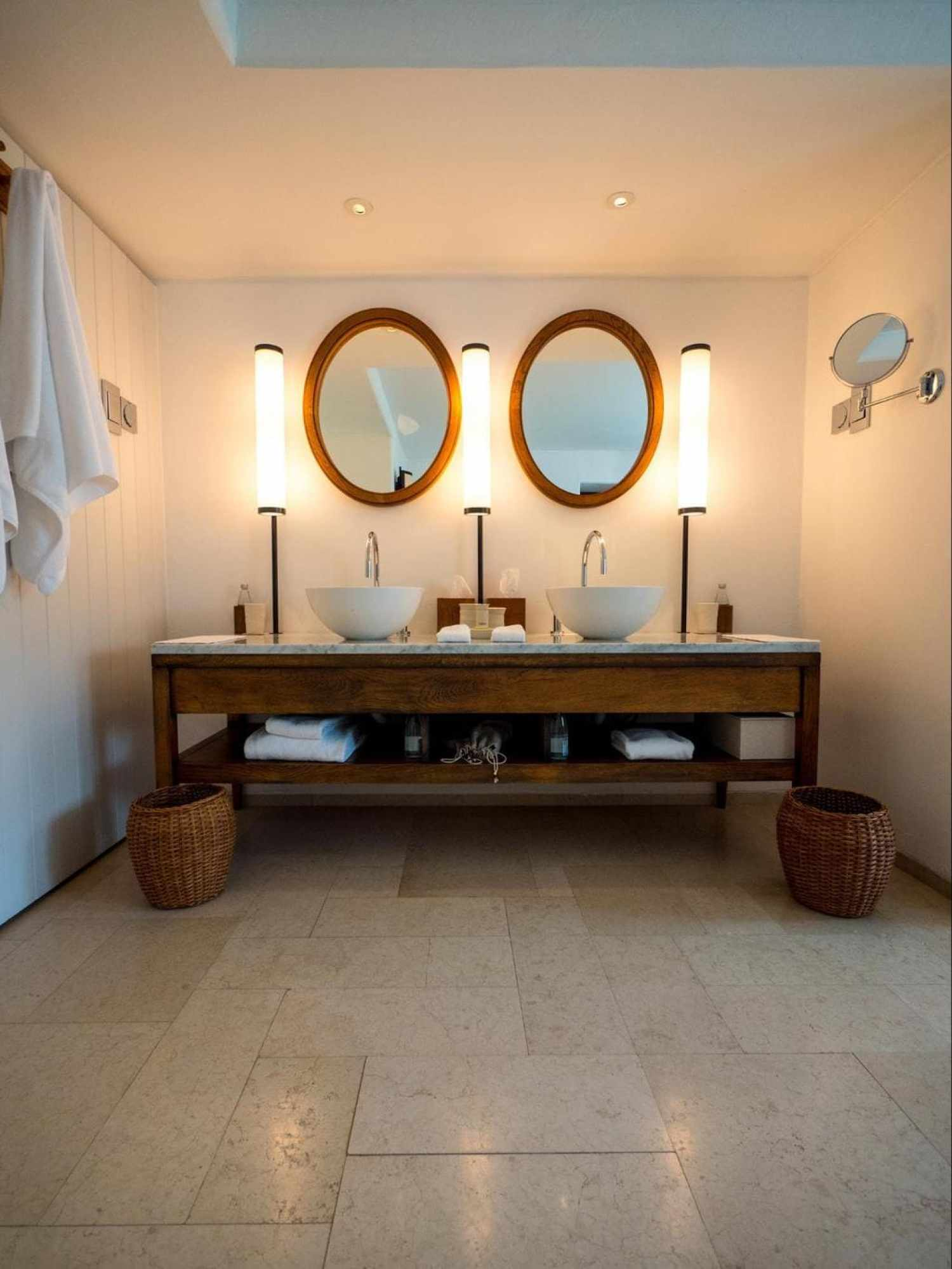 The bathroom at Aman Sveti Stefan