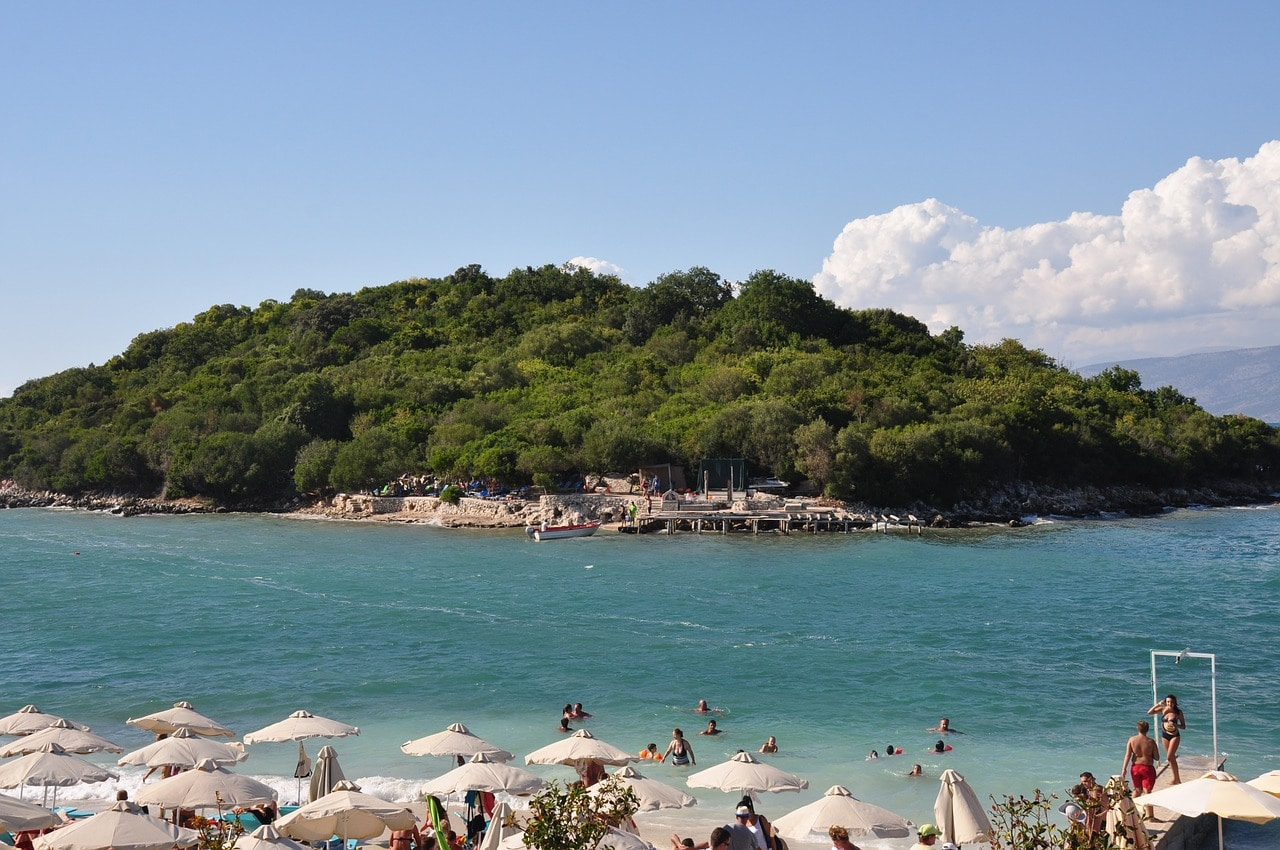 The view at ground level in Ksamil