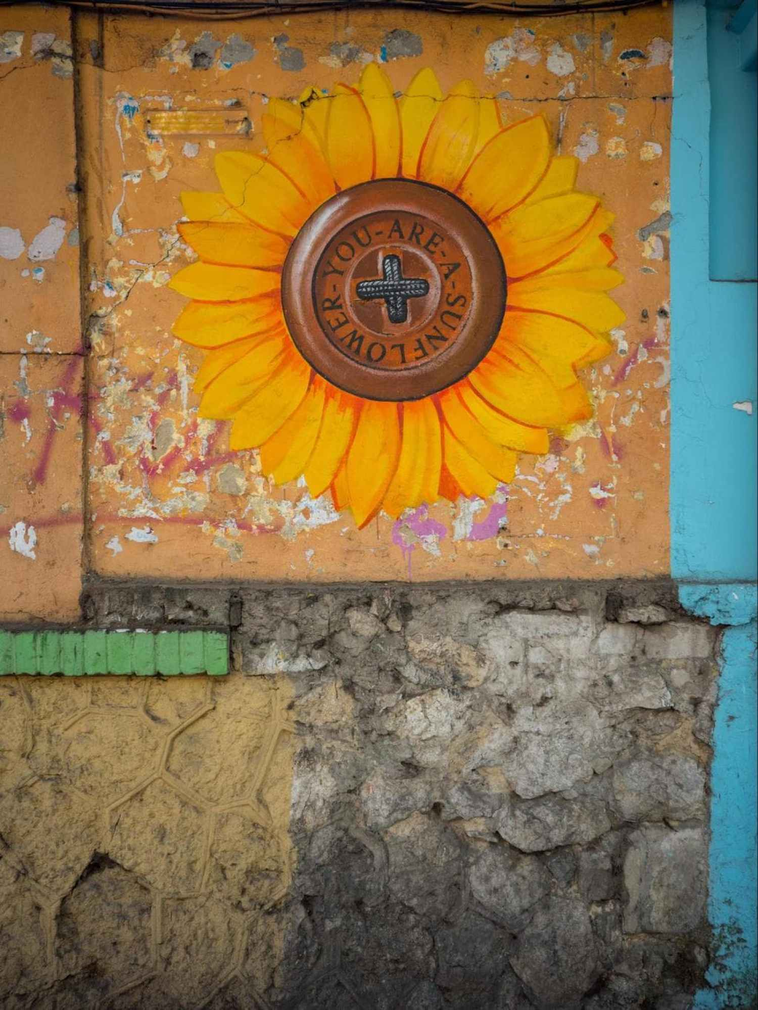 We are sunflowers wall mural