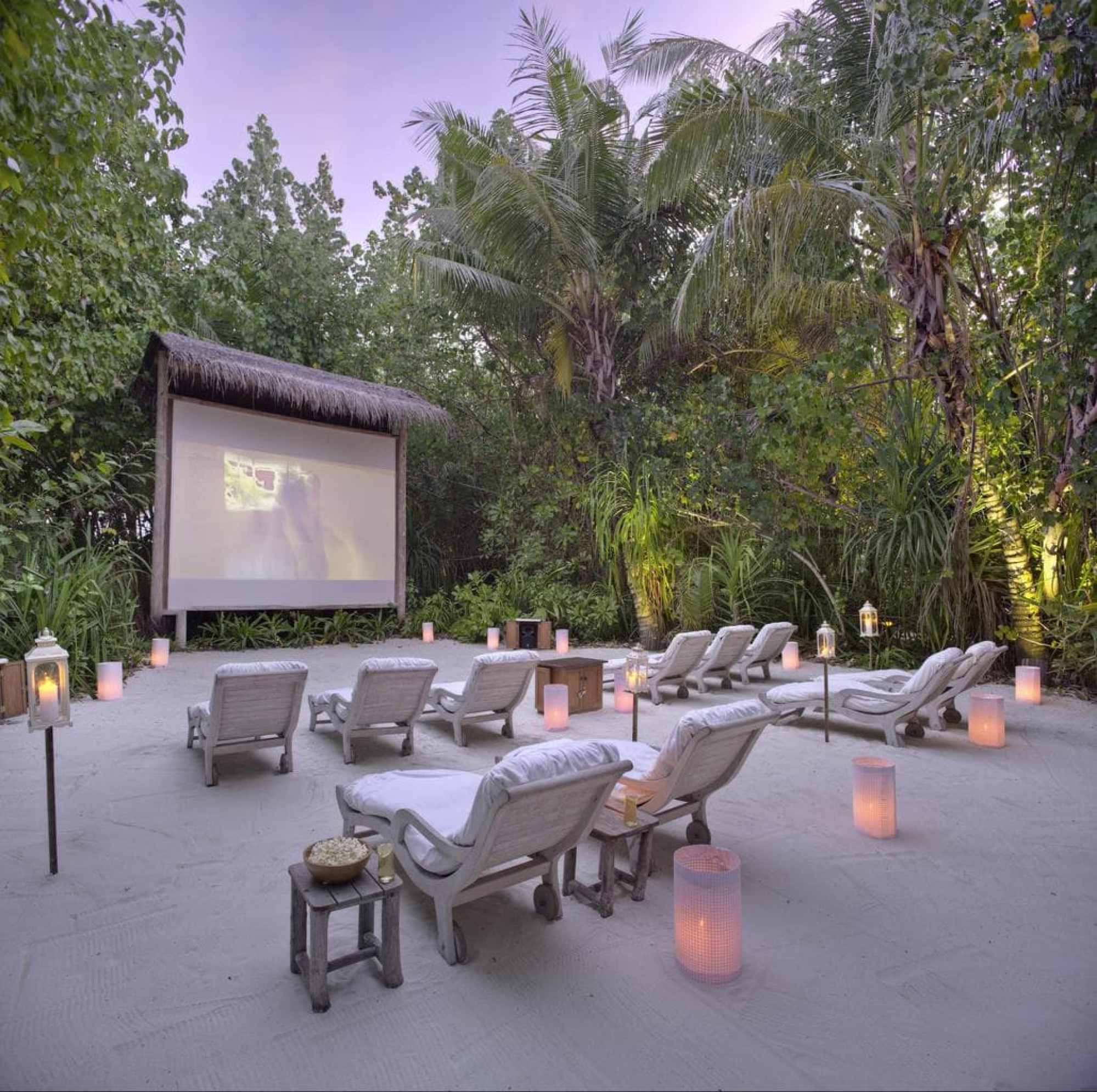 Jungle Cinema at Gili Lankanfushi - Courtesy of Gili Lankanfushi