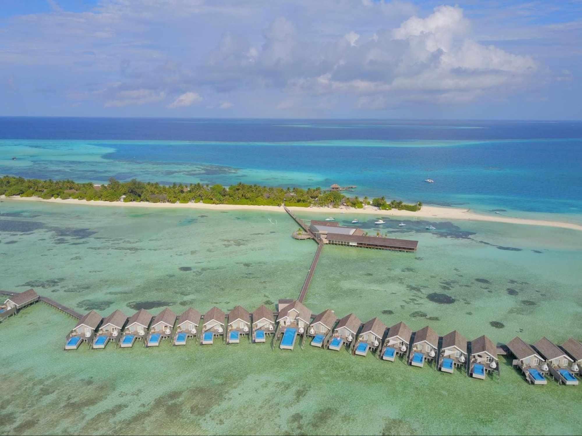 Romantic pool water villas at LUX* Maldives South Ari Atoll